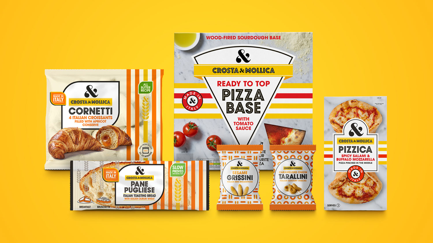Crosta & Mollica Packaging Design Across New Categories Designed by Deuce Studio