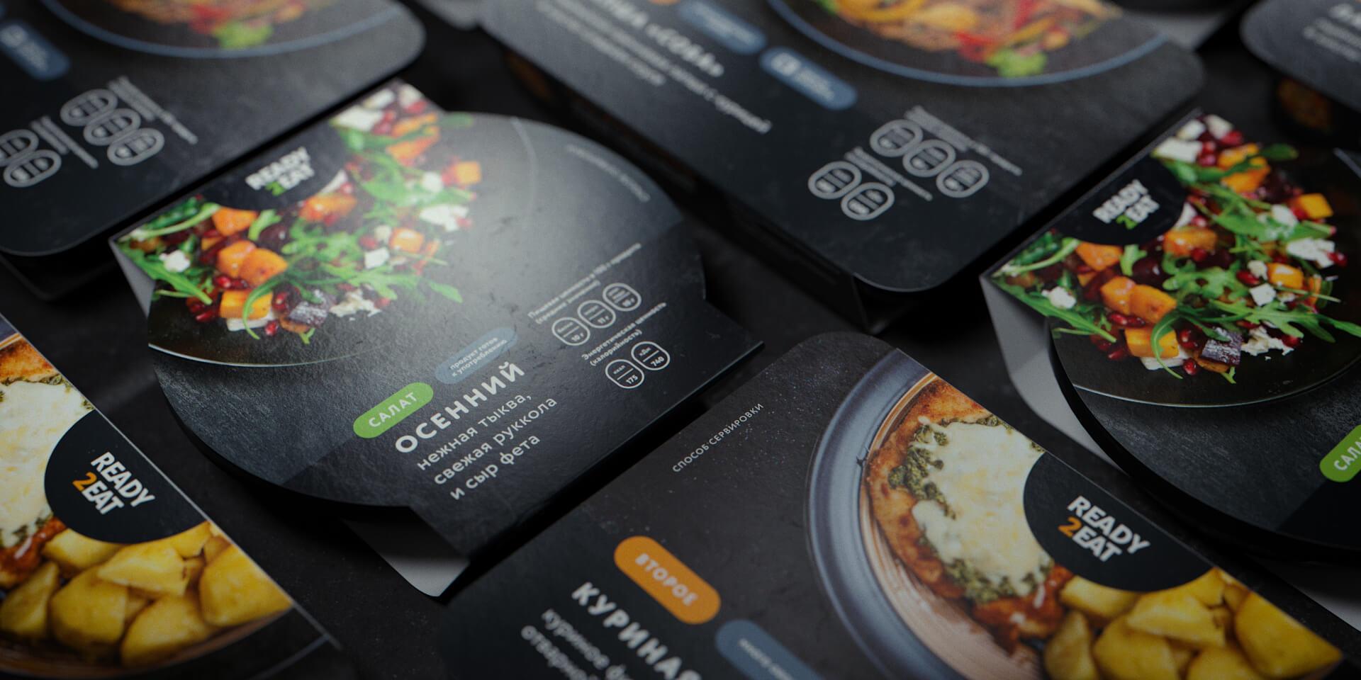 Ready2eat Pre-Prepared Food Packaging Design by Lovemedo Branding Agency