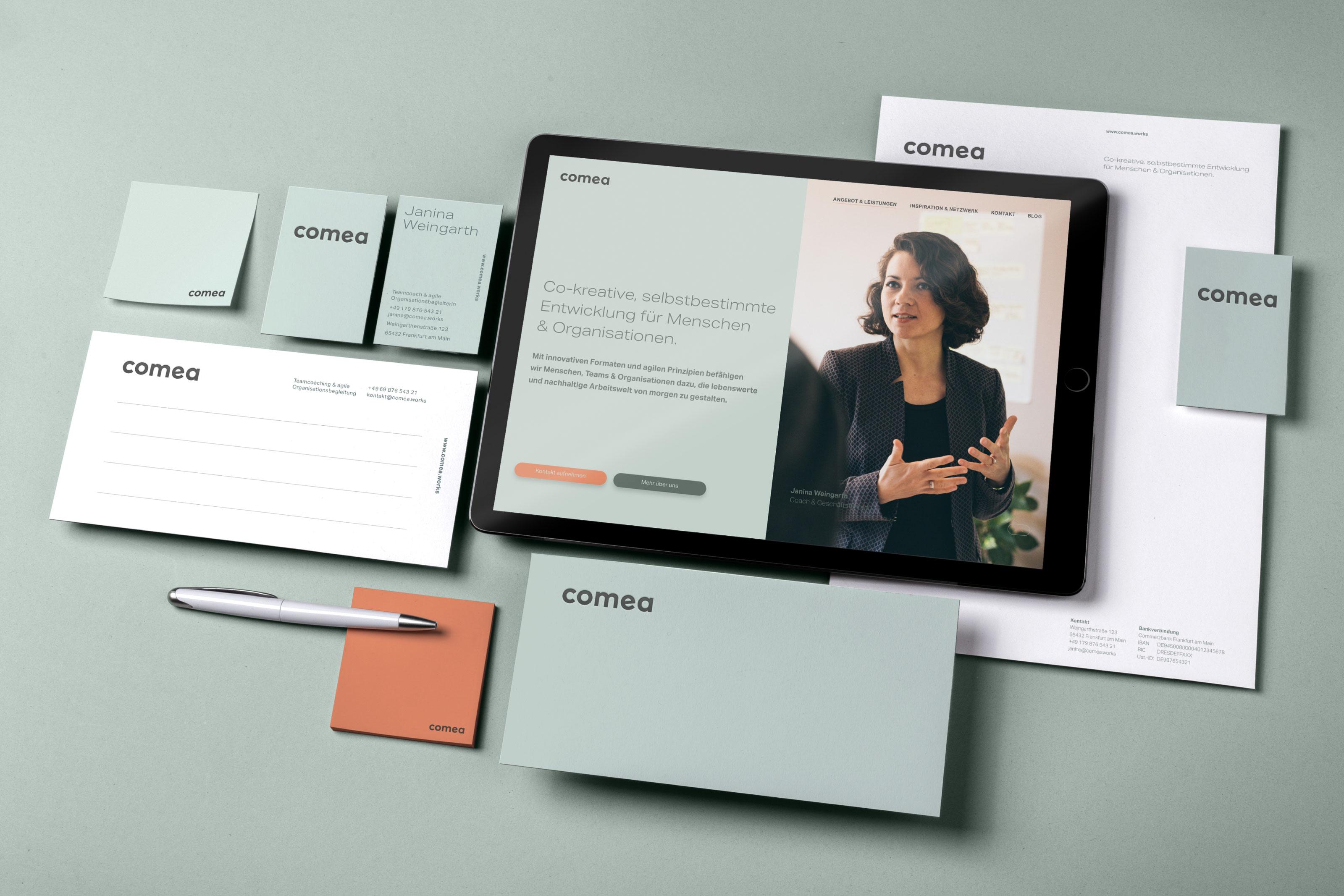 Brand Design for the Co-Creative Coaching Company Comea