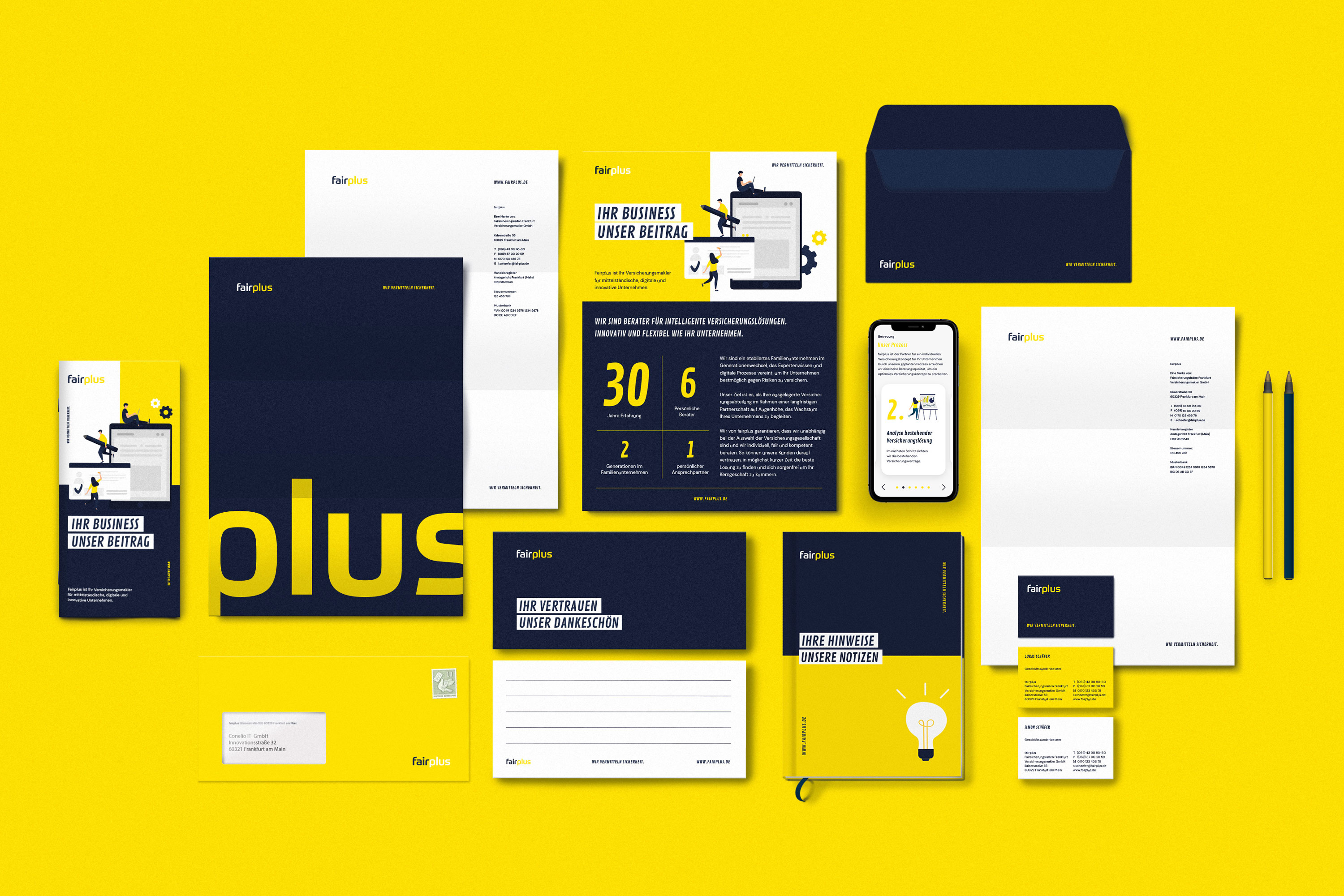 Brand Design for Tech-Insurance Consulting Company Fairplus by New Office