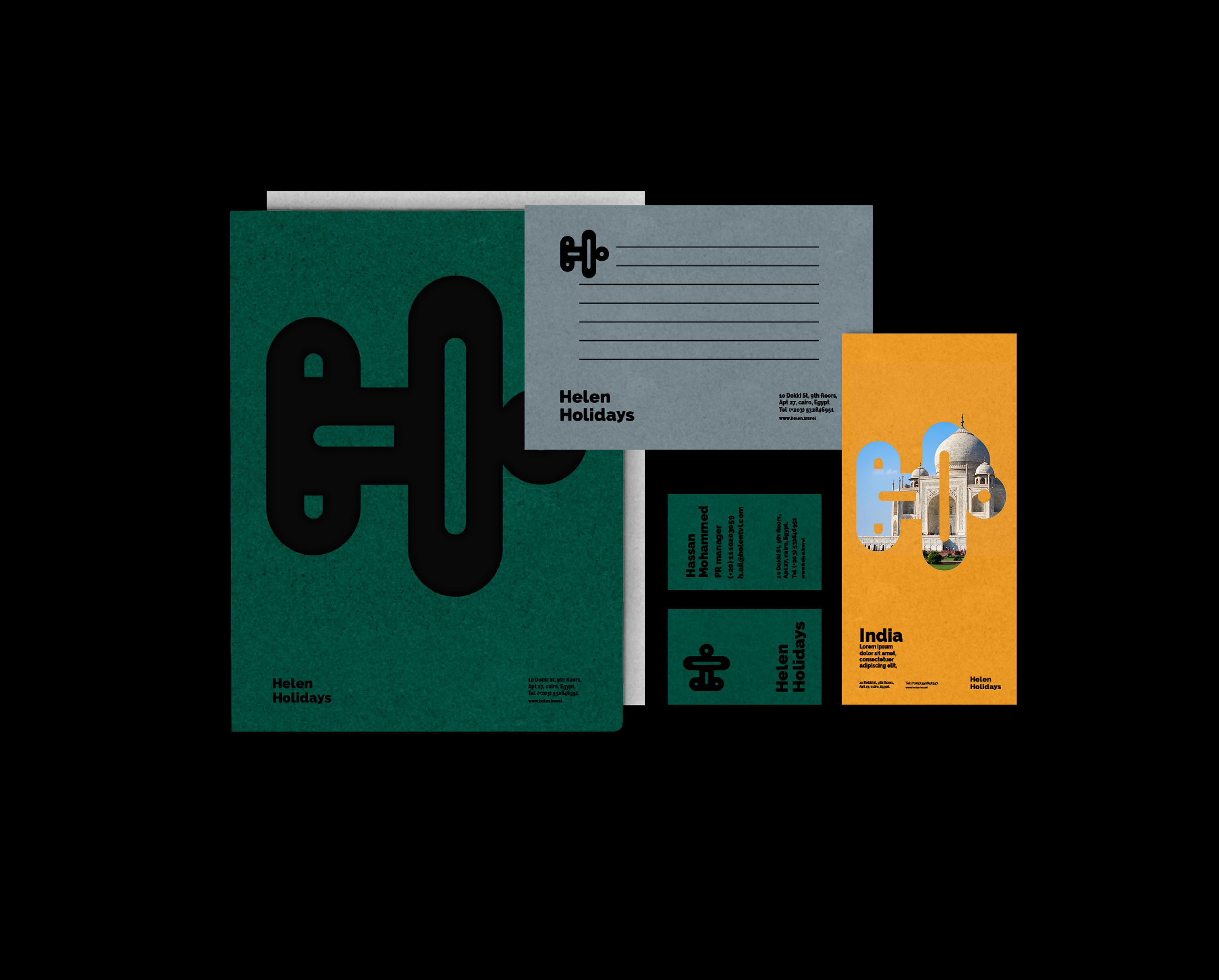 Re-Branding Proposal Concept by Mai Mousa for Helen Holidays