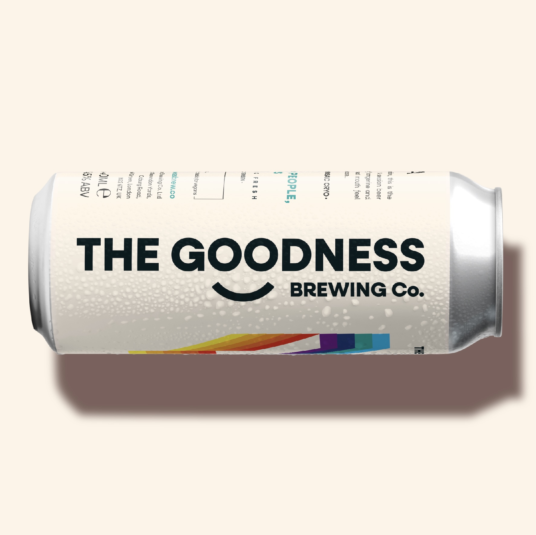 Bright & Bold Rebrands The Goodness Brewing Co