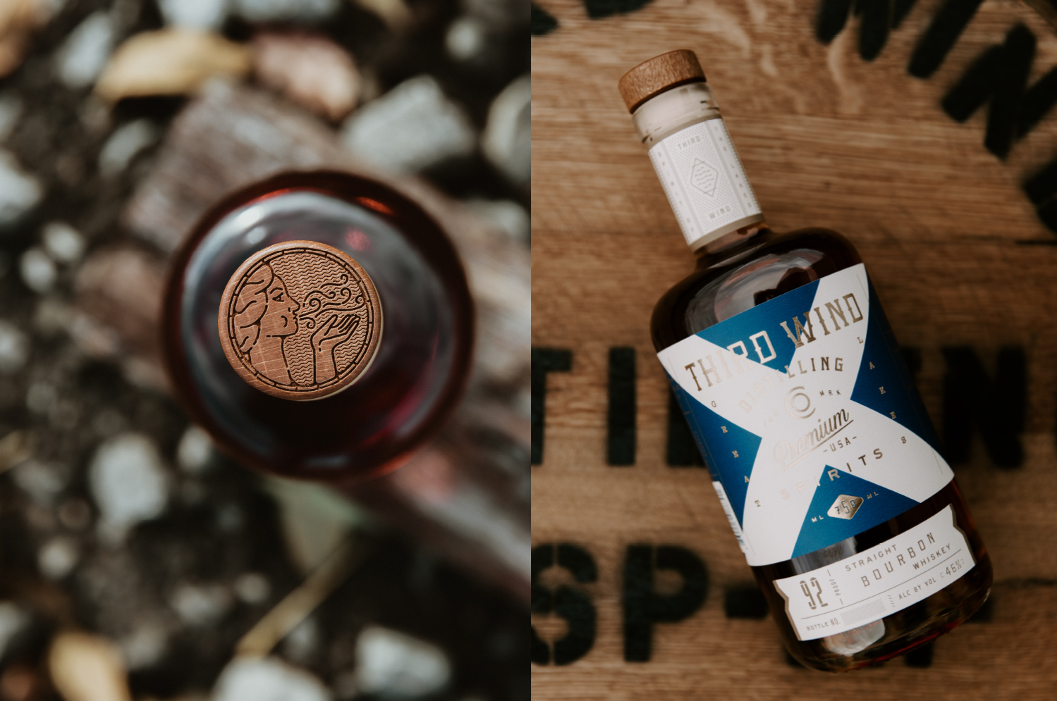 Device Creative Collaborative Create Branding, Web and Packaging for Third Wind Distilling Co.