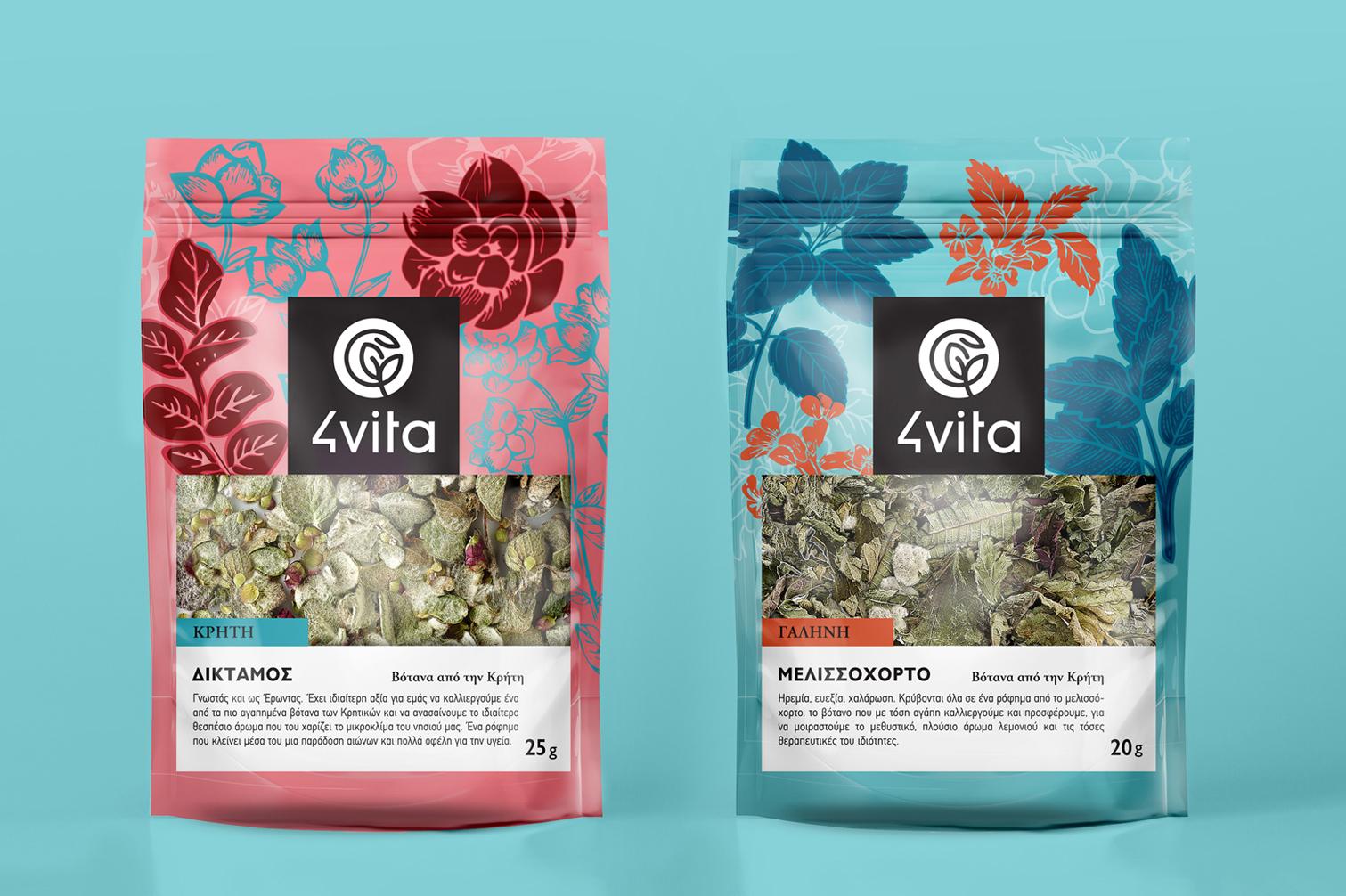Deep Blue Design Creates Herbs Packaging Design For 4vita