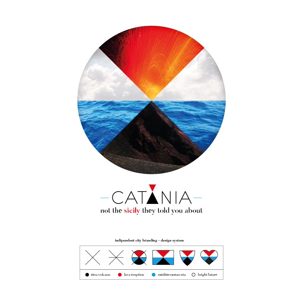 Independent City Branding Project for Catania that Identifies the Metropolitan Sicilian City