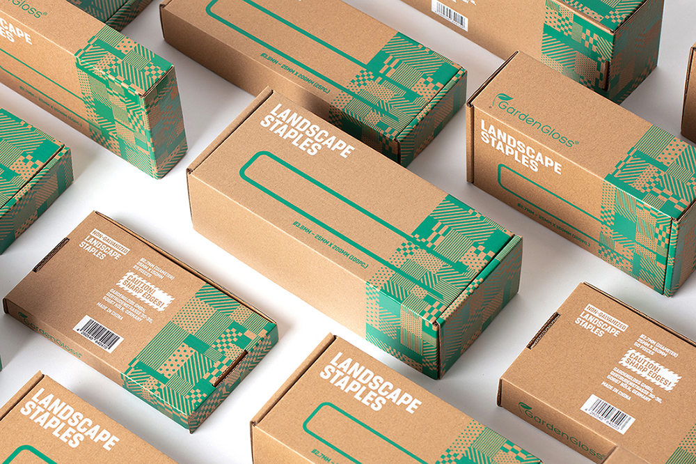 GardenGloss Landscape Staples Packaging Design by Meng Zhang