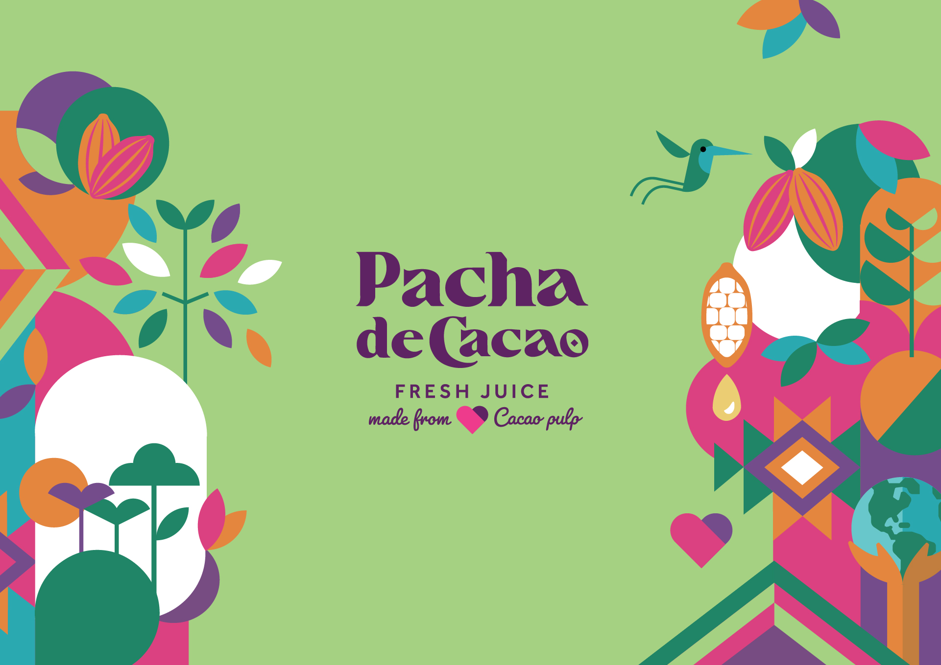Pacha de Cacao Juice Brand and Packaging Design Created by Positivity Branding