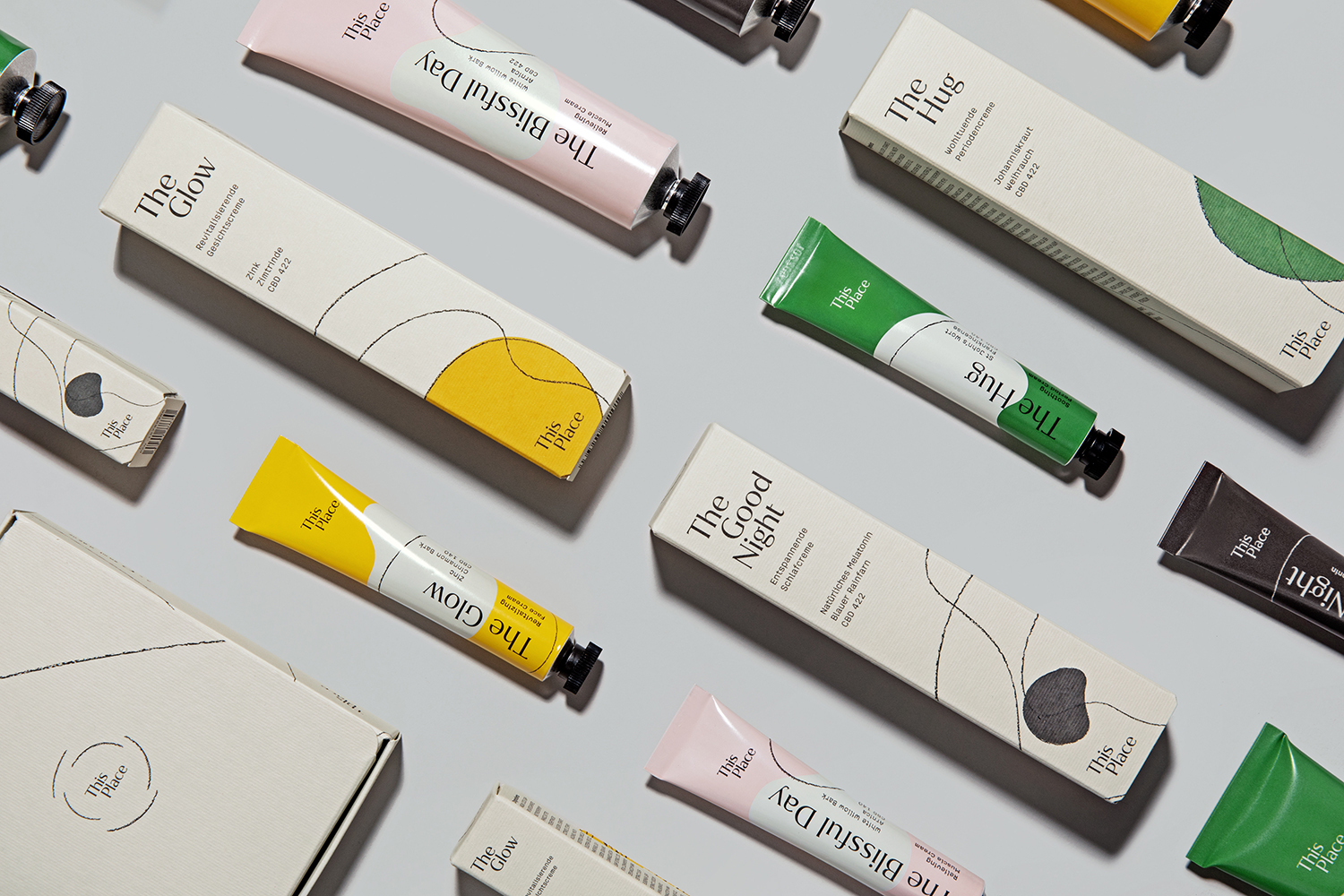 YummyColours Designs Packaging for CBD Topical Brand This Place