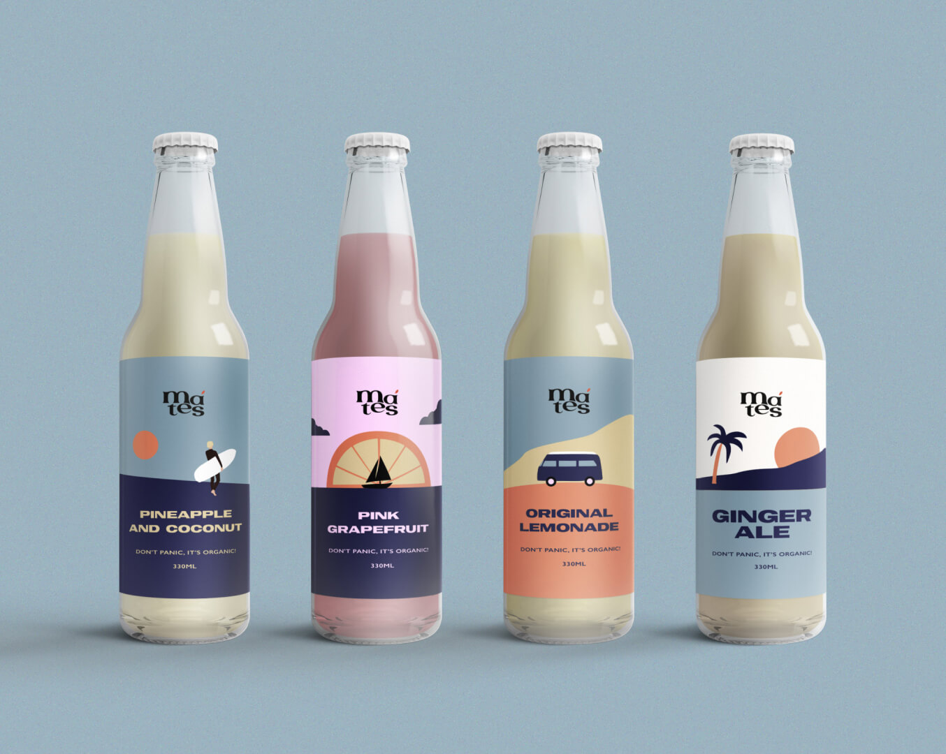 Anna Ivanova Creates Concept Identity and Packaging Design for  Mates City Drinks