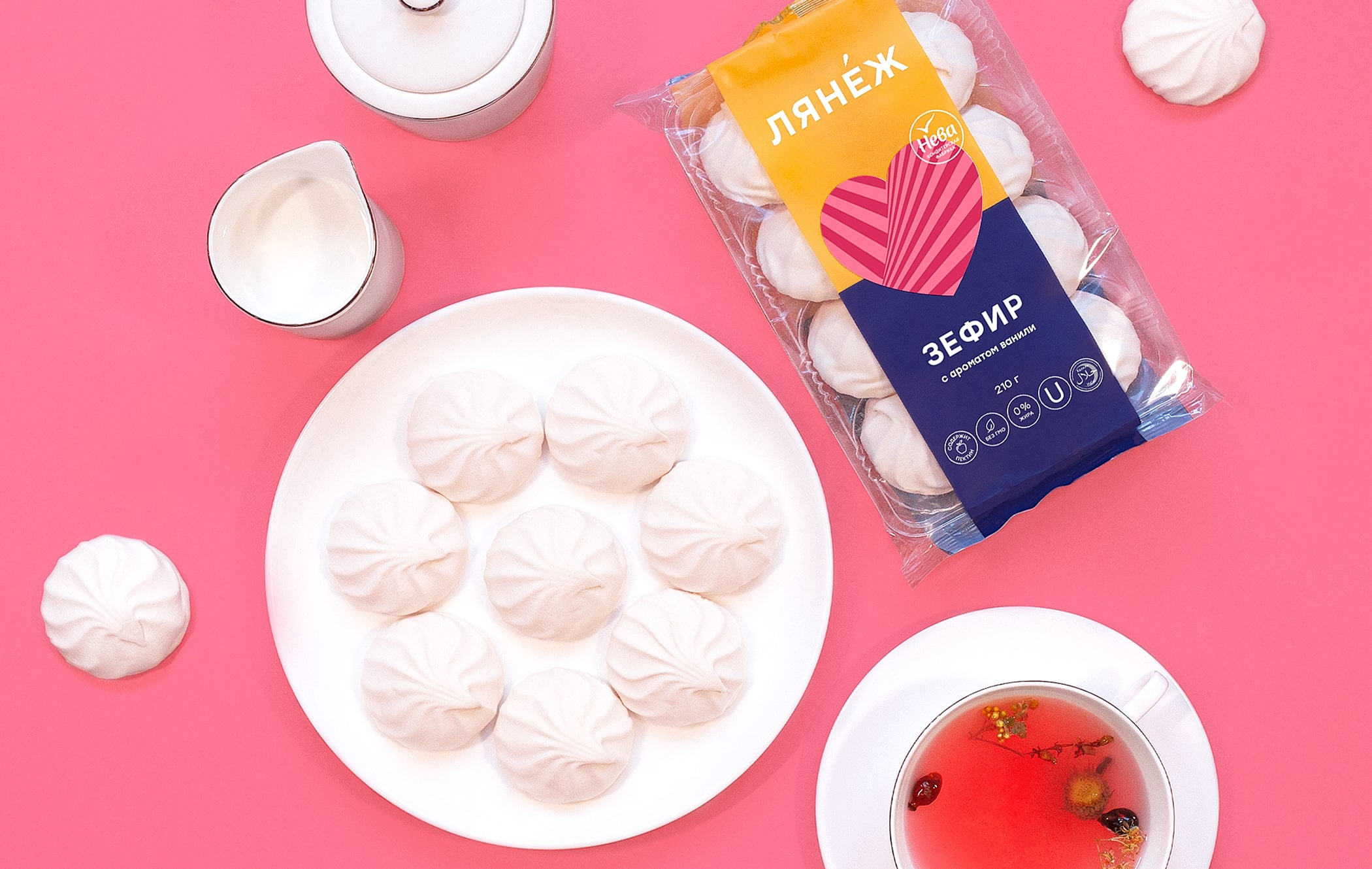 Ferma Branding Agency Create New Design for Marshmallow Label Lanezh