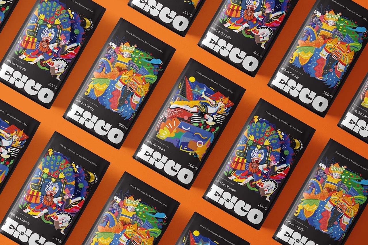 Widarto Impact Create Packaging Design for Esco Coffee Range