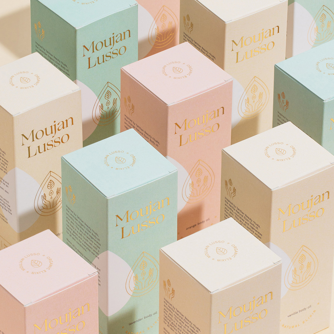 Moujan Lusso Natural Skincare designed by Alexandra Necula