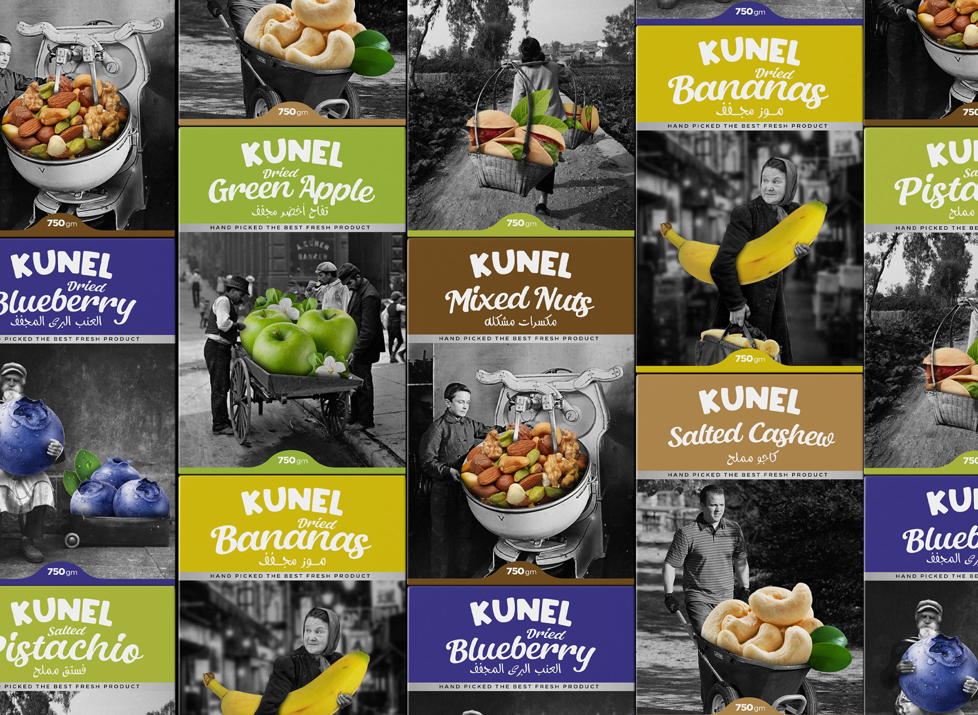 Studio Metis Design Packaging for Kunel Dried Fruits Range