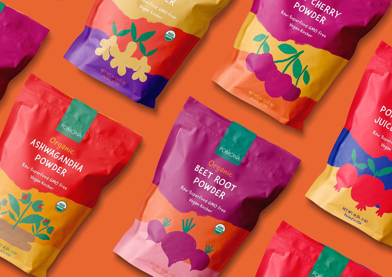 Kollektiv Creates Packaging Design for Pomona Organic Powder
