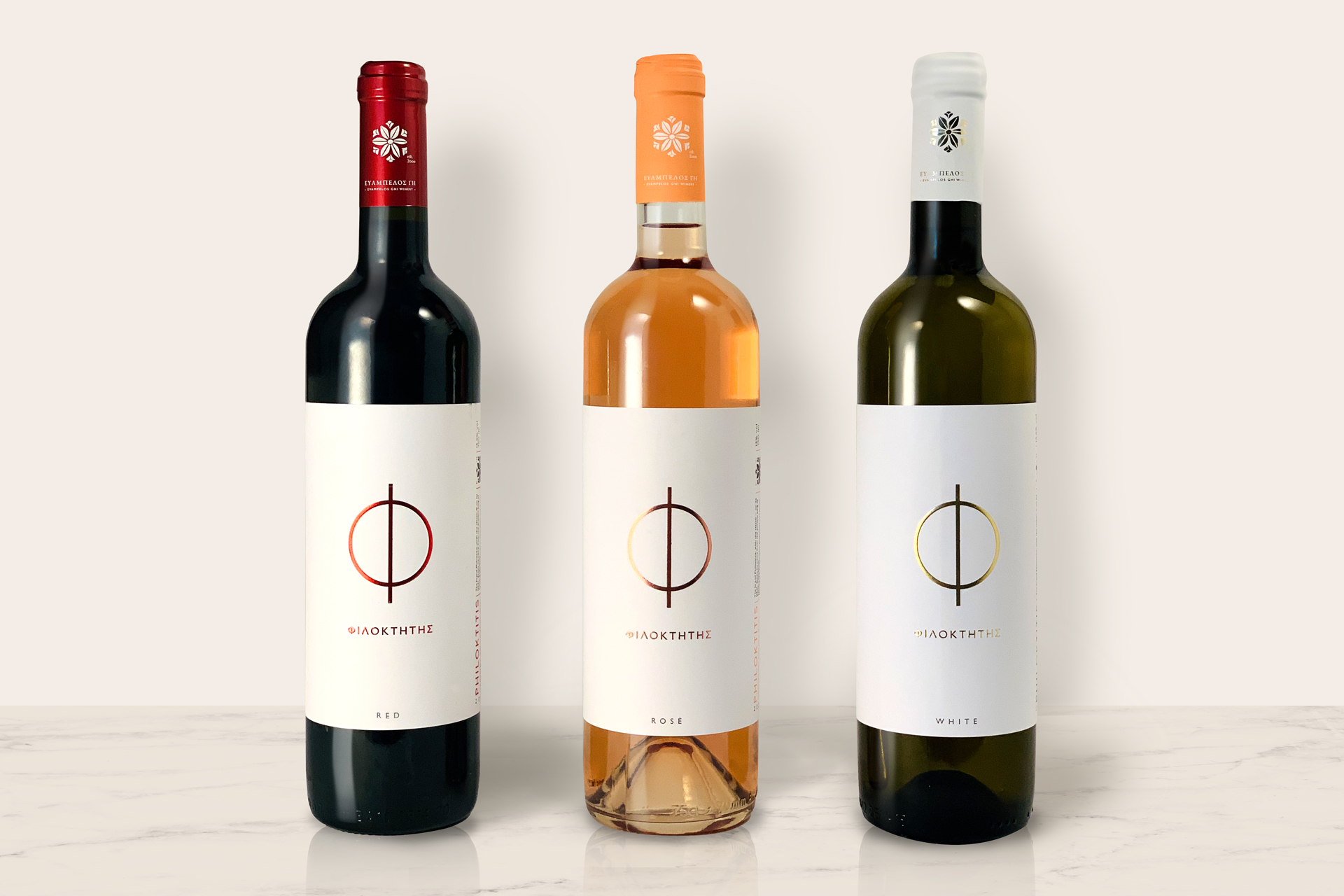 Evampelos Ghi Winery Philoctetes Wine Labels Rebranding