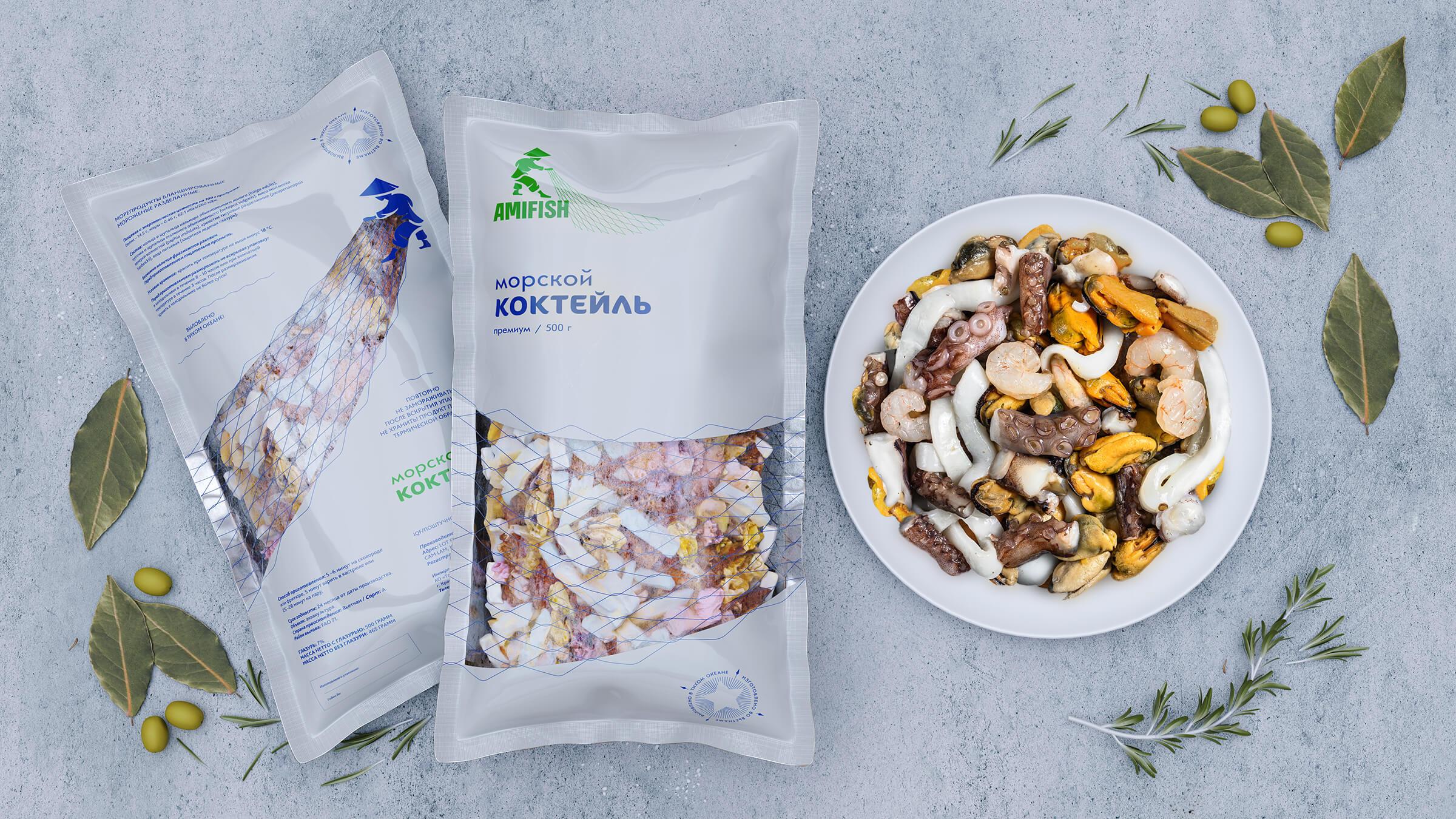Uniqorn Create Vietnam Sea Food Brand Packaging Design
