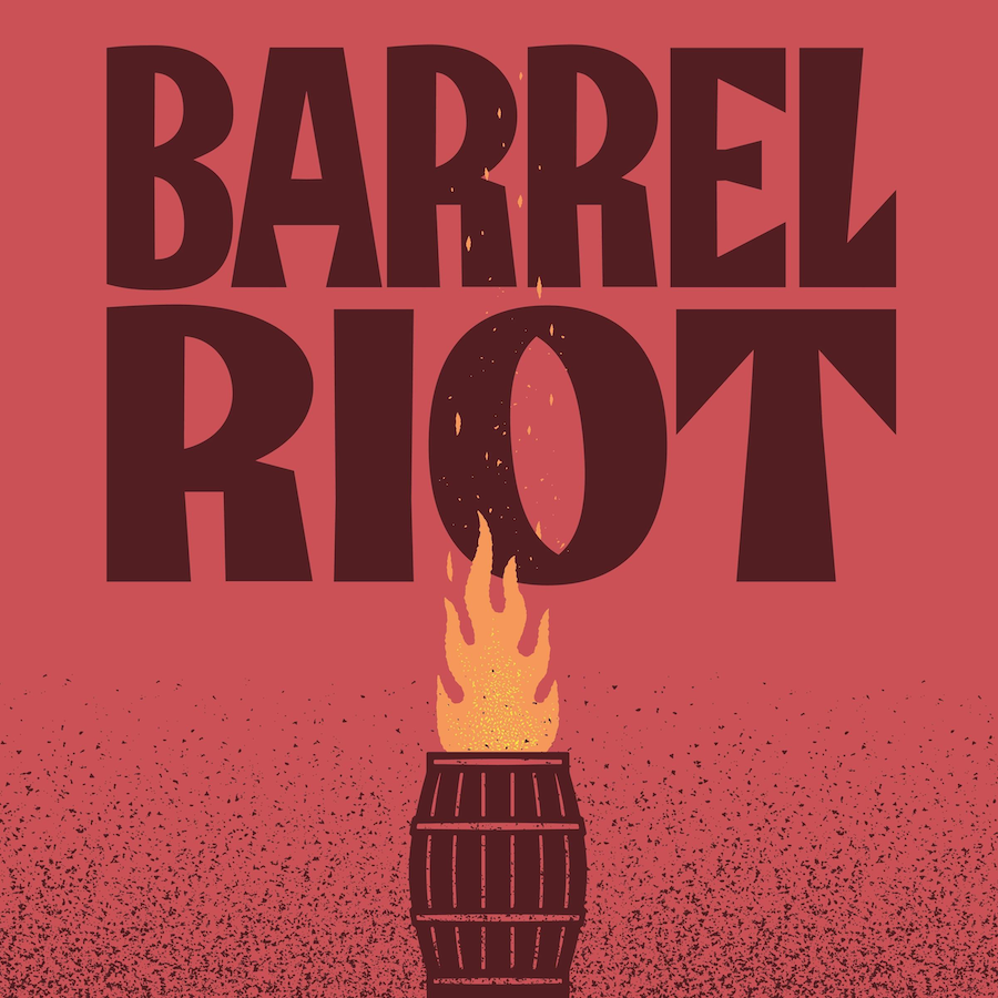 Barrel Riot Wine Label Design Created by MiresBall