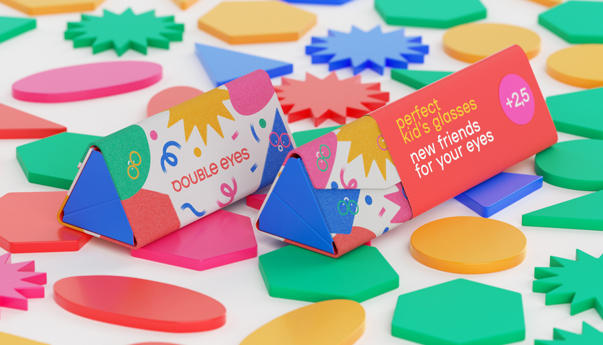 Doubles Eyes, Kids Glasses Brand and Packaging Designed by Anna Zhu