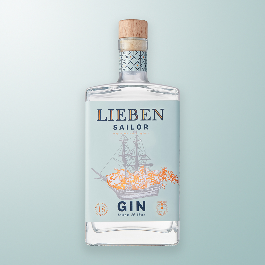 Simplifi Agency Designs New Gin Packaging for Lieben Wine & Spirit Co.
