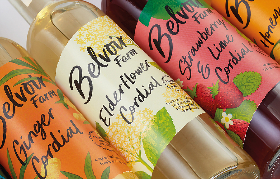 B&B Studio Reinvigorates Premium Soft Drinks Brand Belvoir Farm