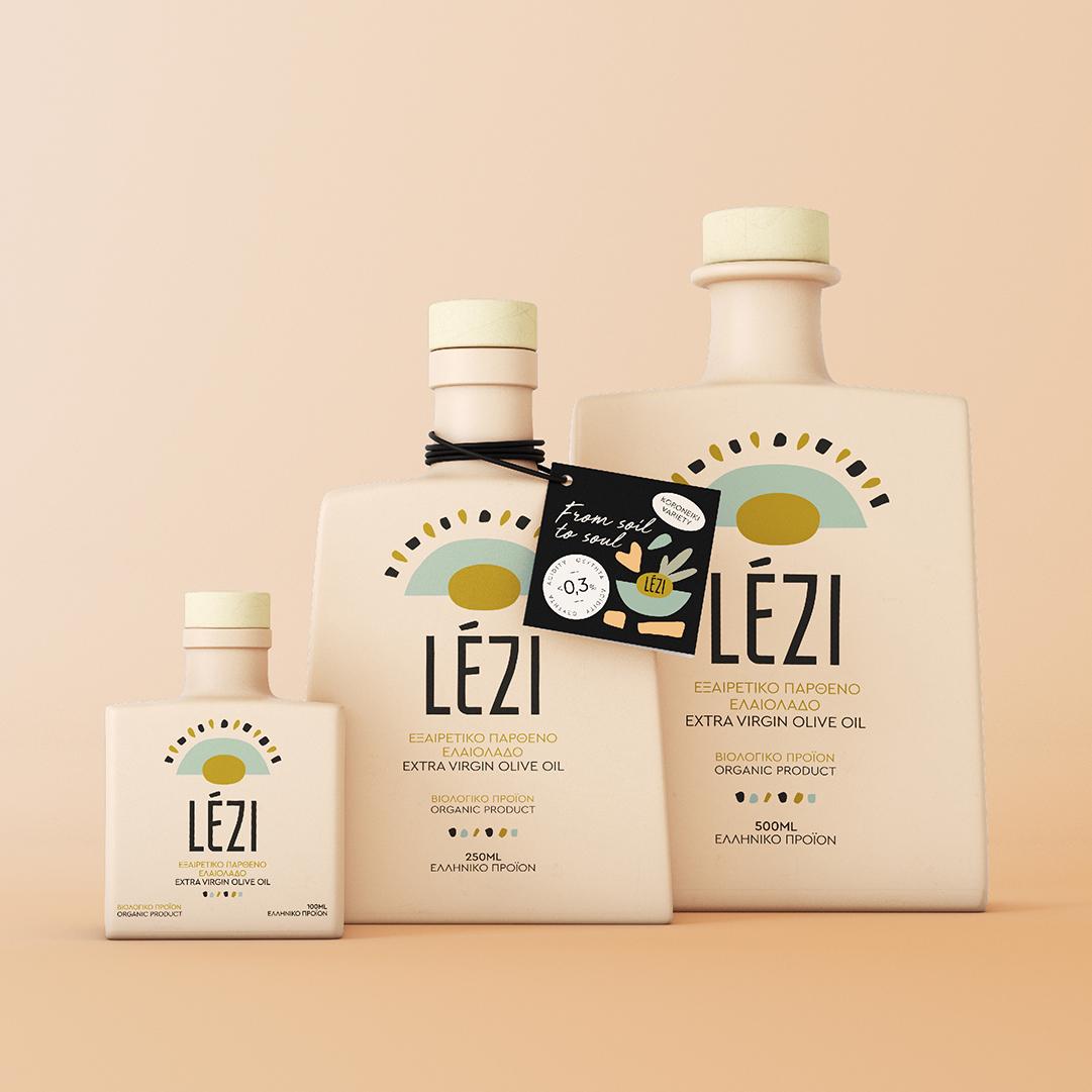 Lezi Award-Winning Extra Virgin Olive Oil Designed by Elia Laourda