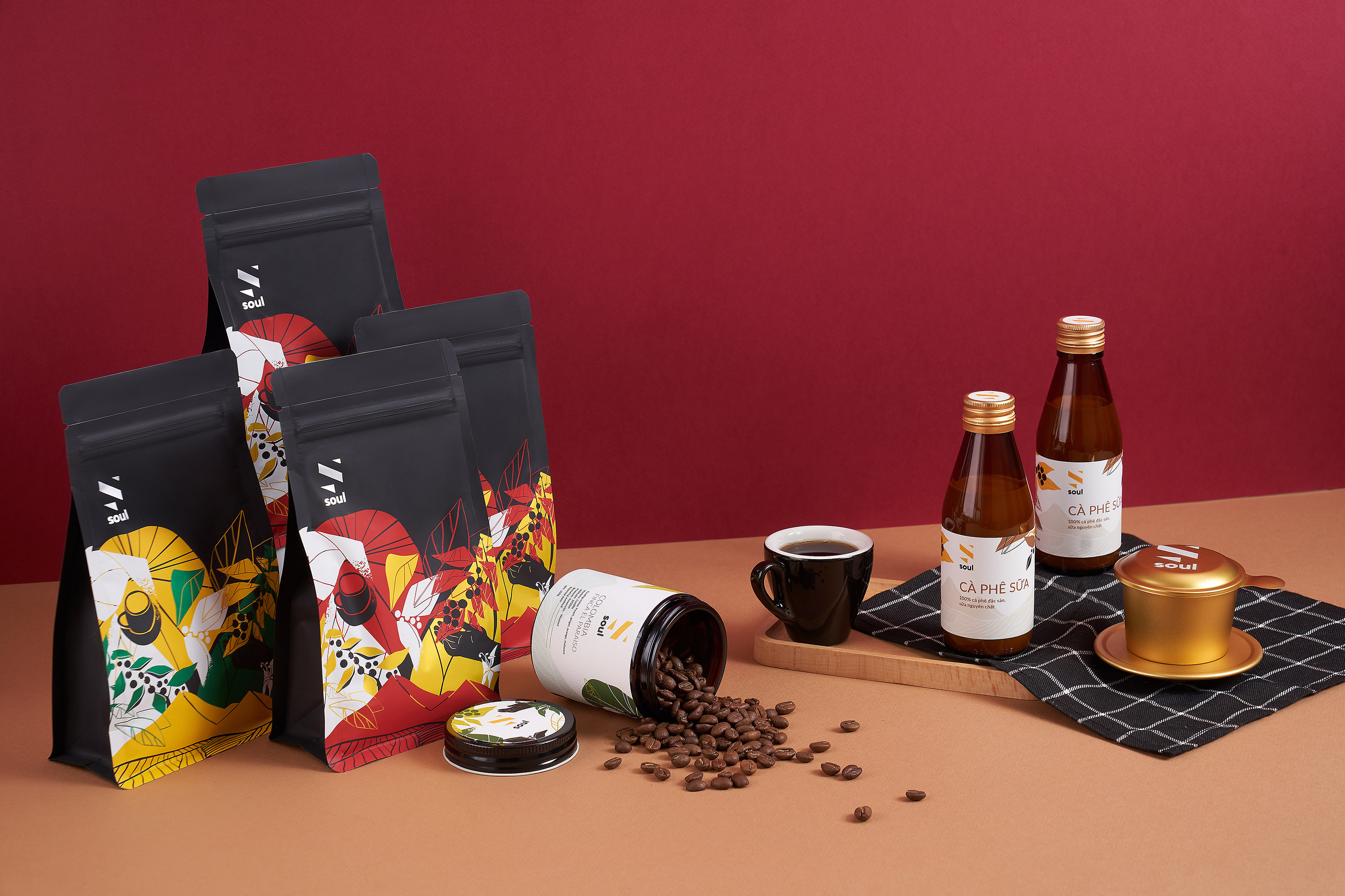 Quan & Duong Design Soul Specialty Coffee Packaging Range