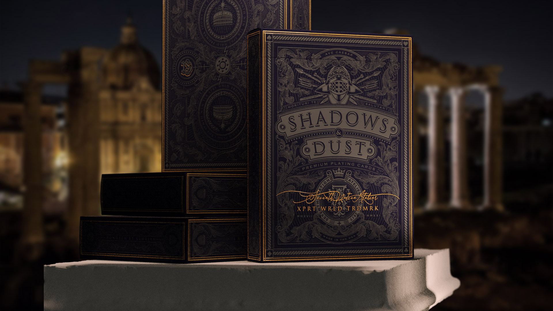 Seventh Nation Atelier Creates Shadows and Dust Playing Cards