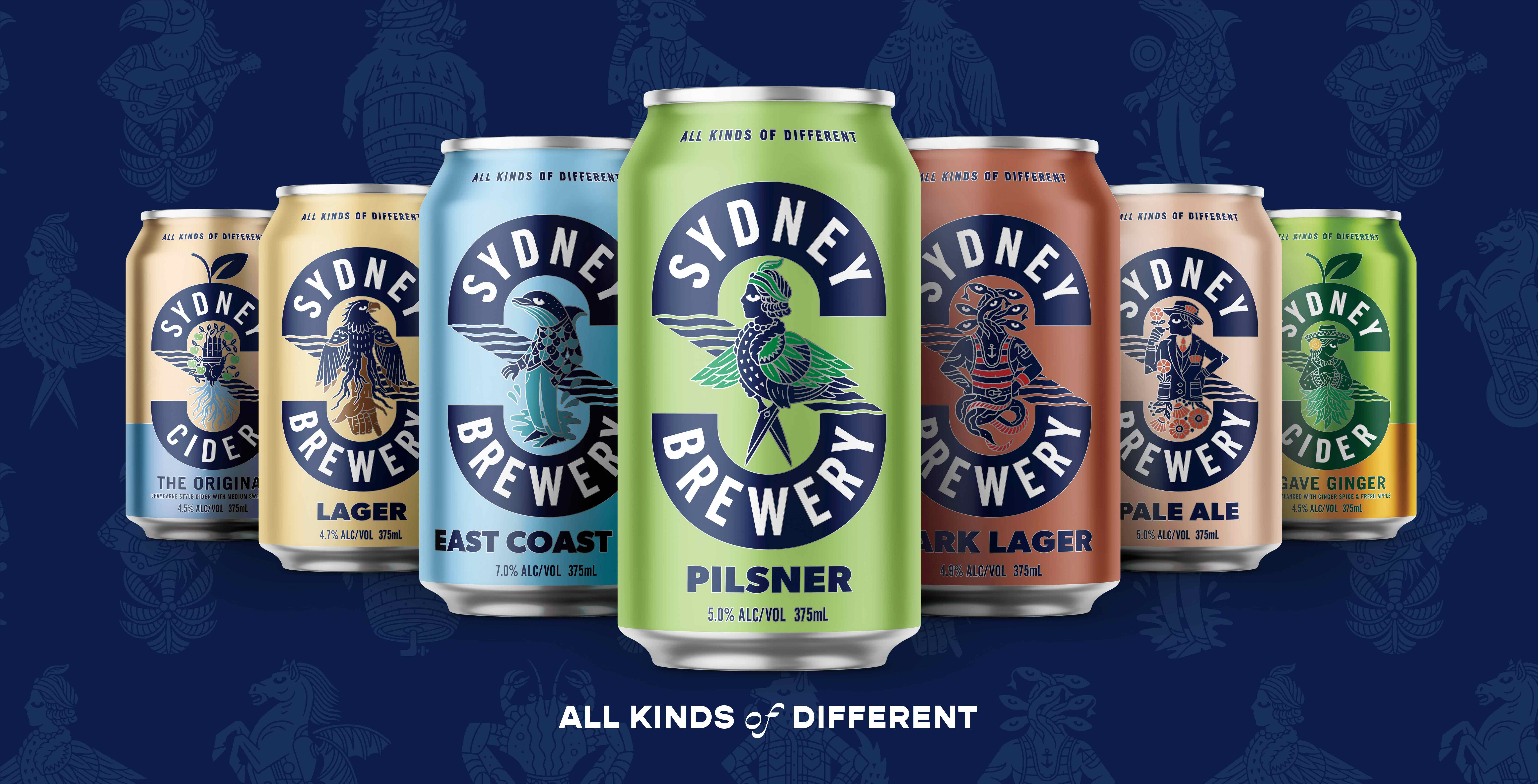 Sydney Brewery Revamped Identity and Packaging by Boldinc