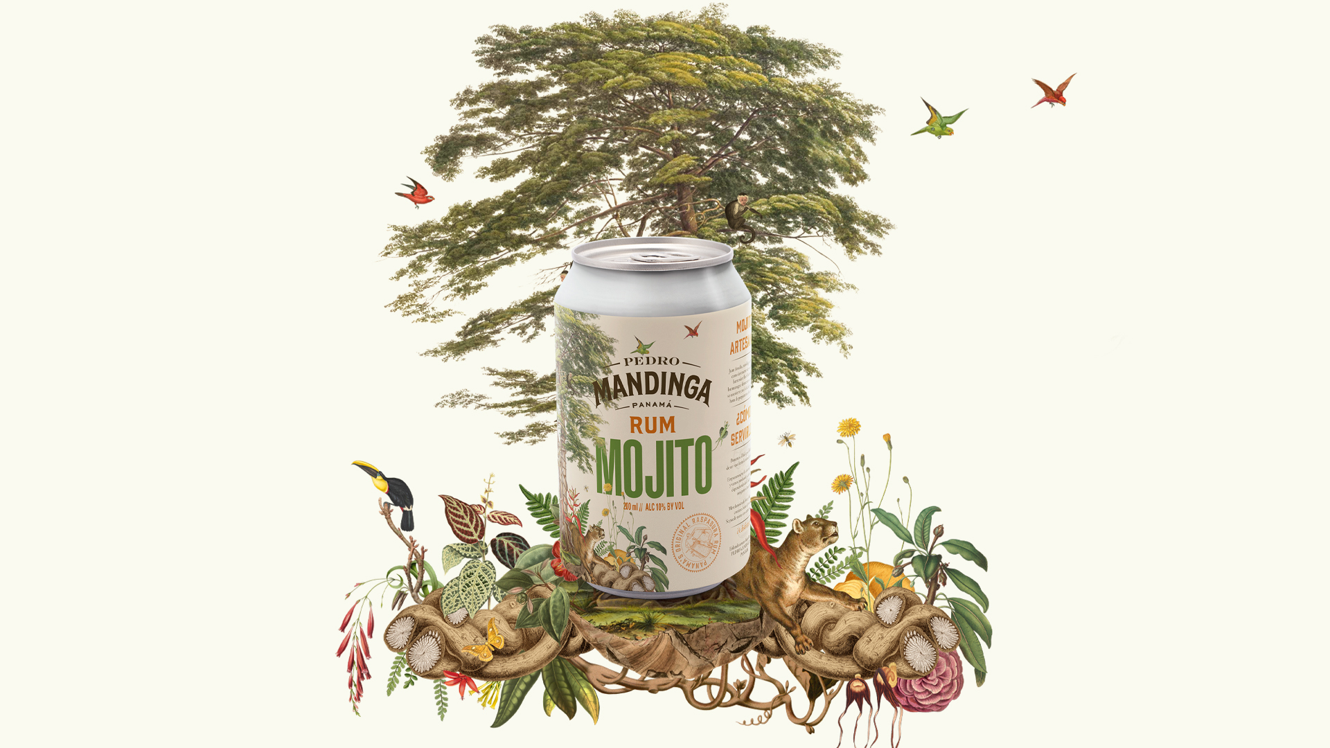 Mellow & Banana Created Packaging Design for Pedro Mandinga Canned Cocktail