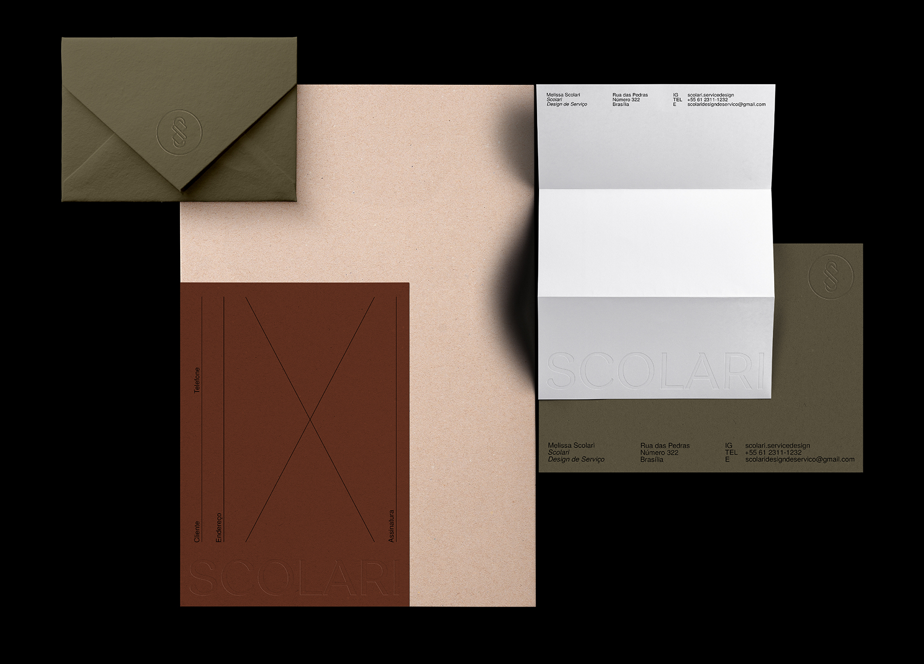 Rafael Cardoso Design Create Brand Identity for Scolari Service Design