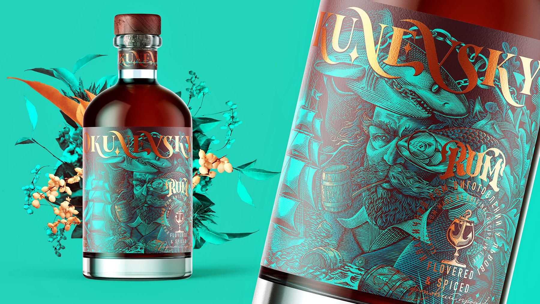 Umbradesign Create Branding and Packaging Design Project for Okunevsky Rum