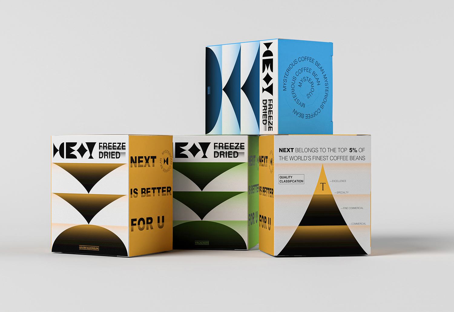 Branding and Packaging Design For Next Coffee Brand by B&W Graphic Lab
