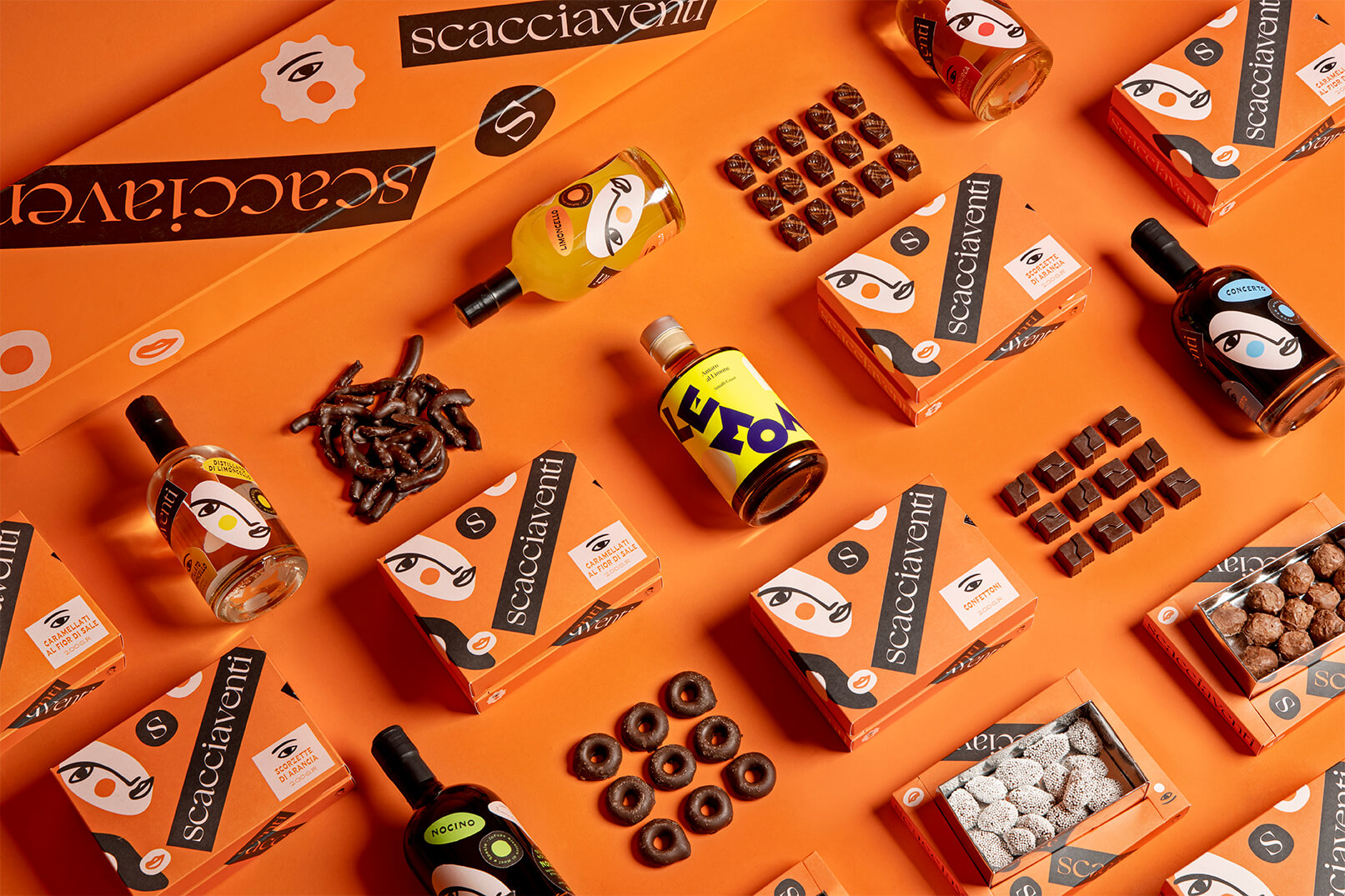 Scacciaventi Packaging Design for Confectionery, Liquors and Spirits by Lettera7