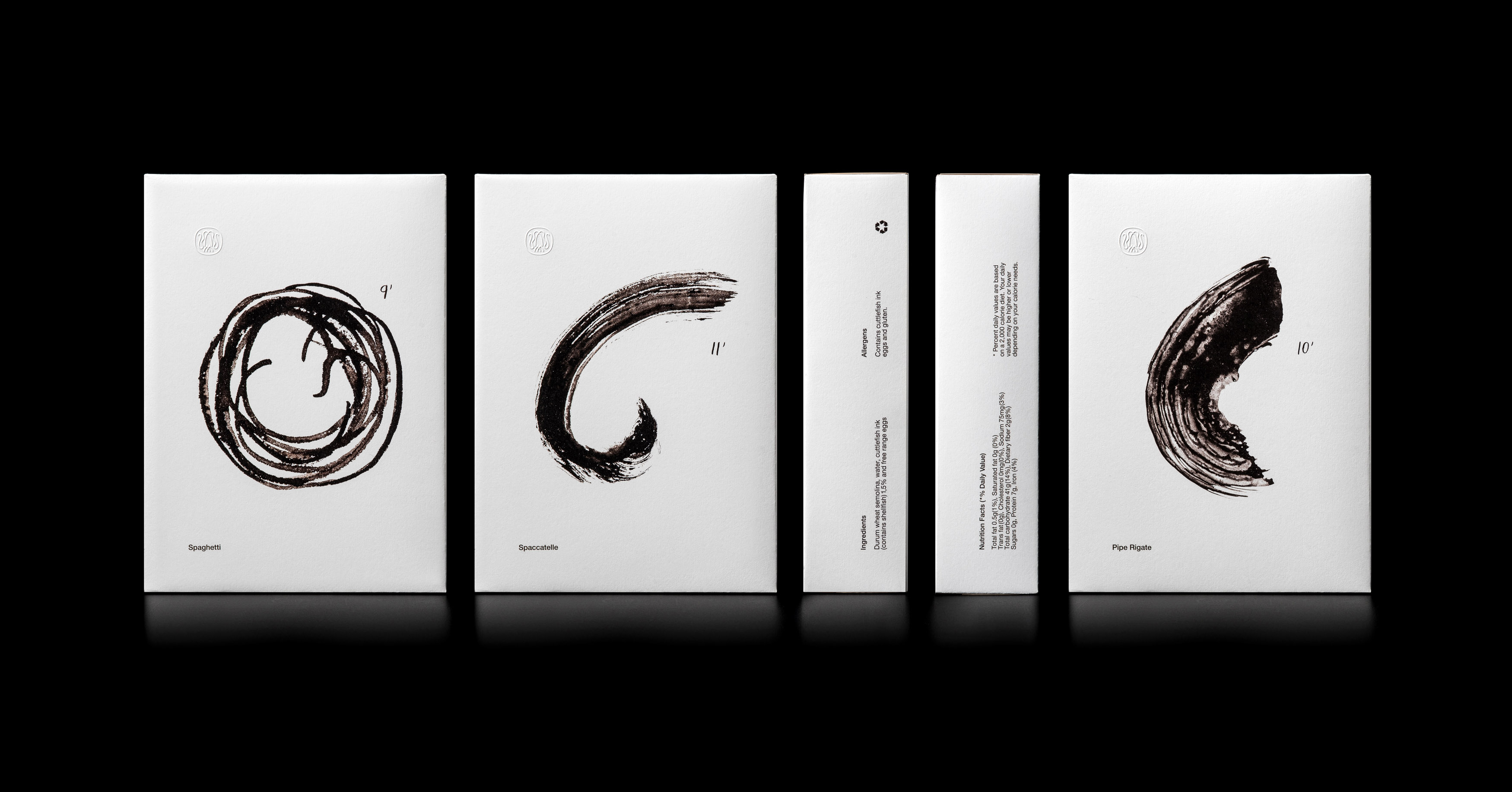 Artisanal Cuttlefish Ink Pasta Sepia Packaging Design Created by Loukas Chondros