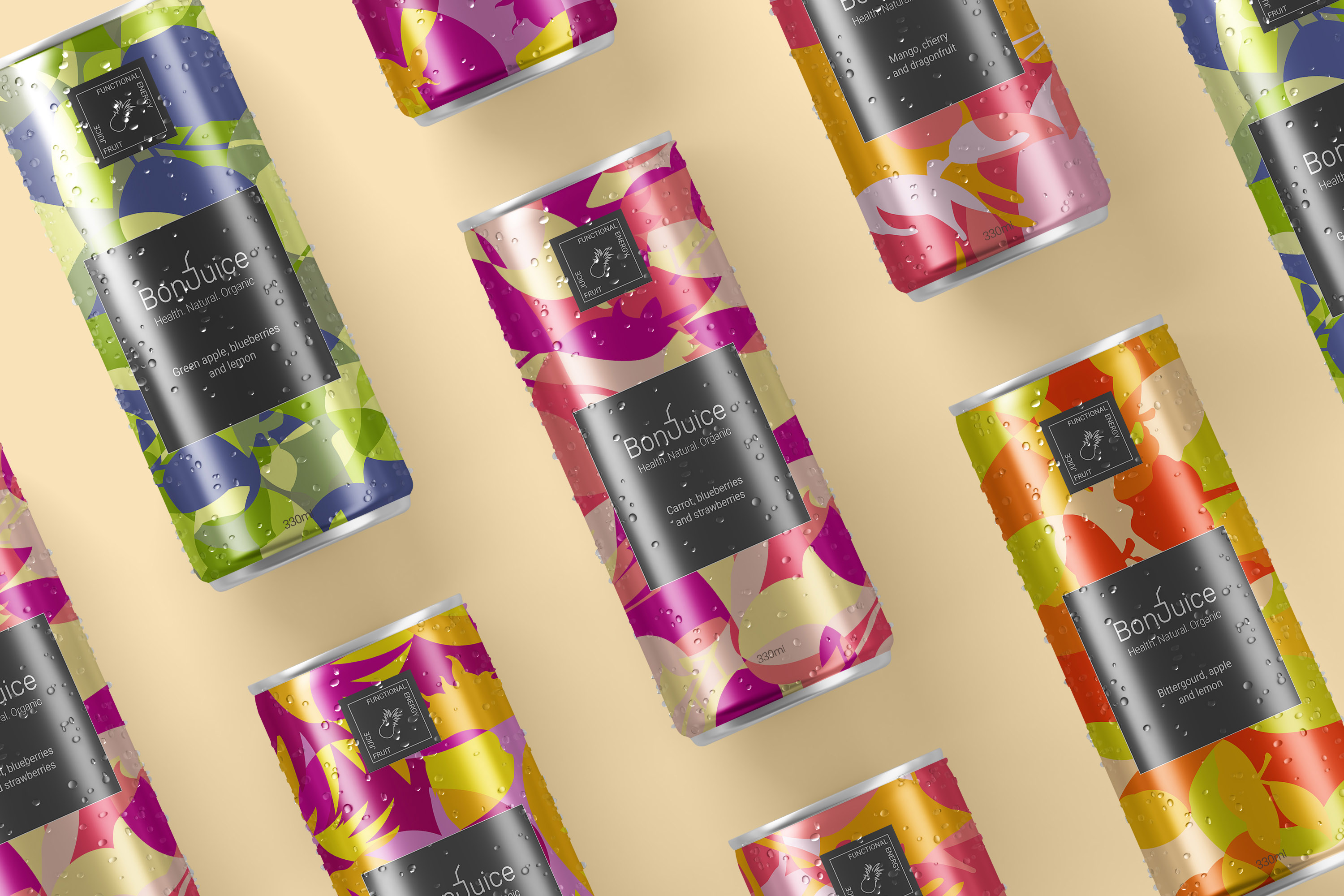 New Branding, Packaging and Website Design for the Brand Bonjuice