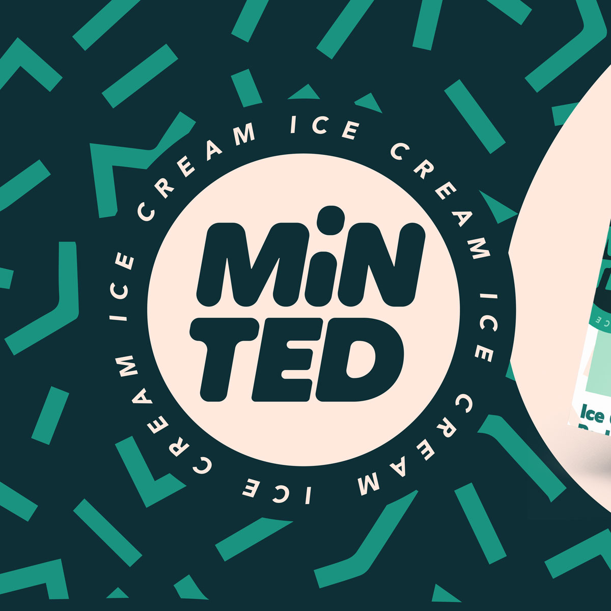 13 Thirteen Design Created Minted Ice Cream Branding