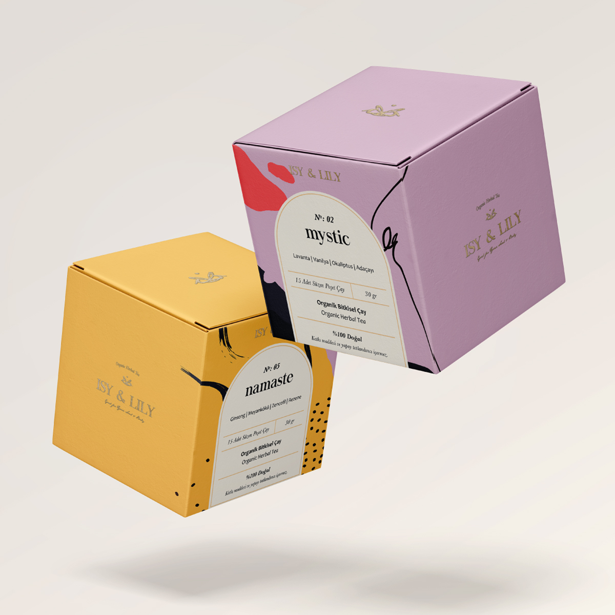 Packaging Design Concept for Isy & Lily Tea by White Studio Istanbul
