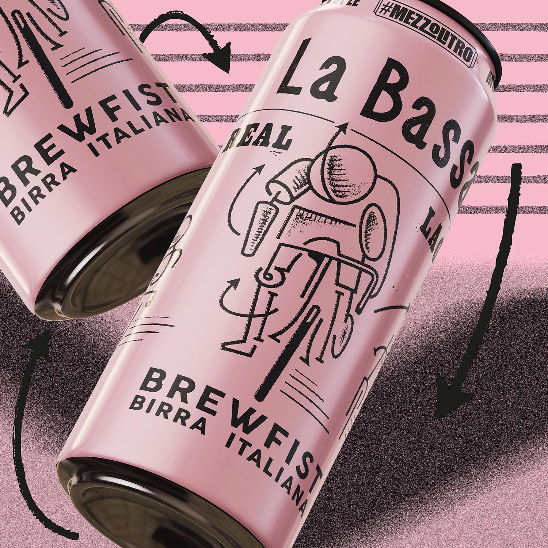 La Bassa Beer Can Design by ByVolume Studio