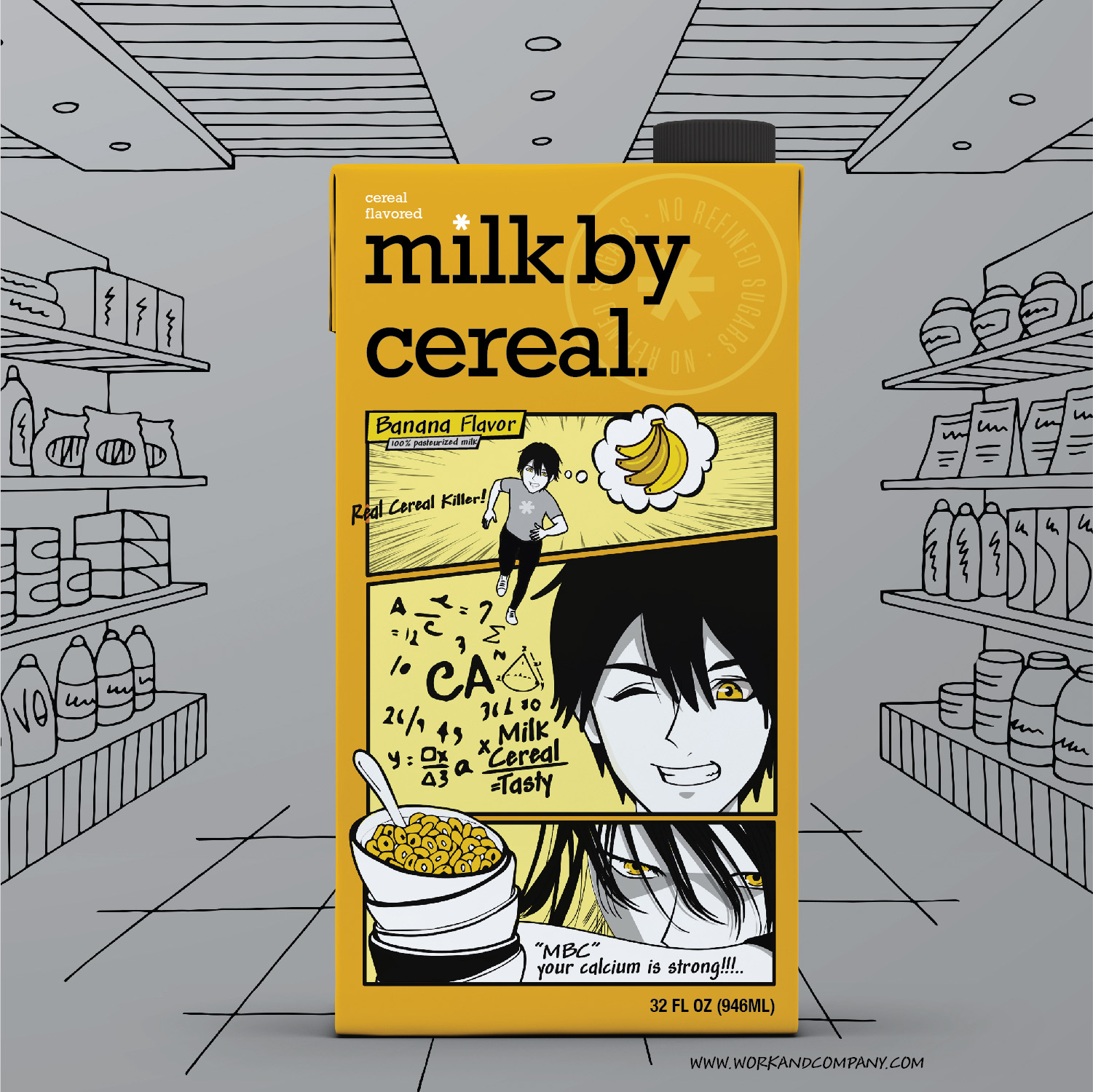 Cereal Milk Concept for Serious Cereal Eaters by Work and Company