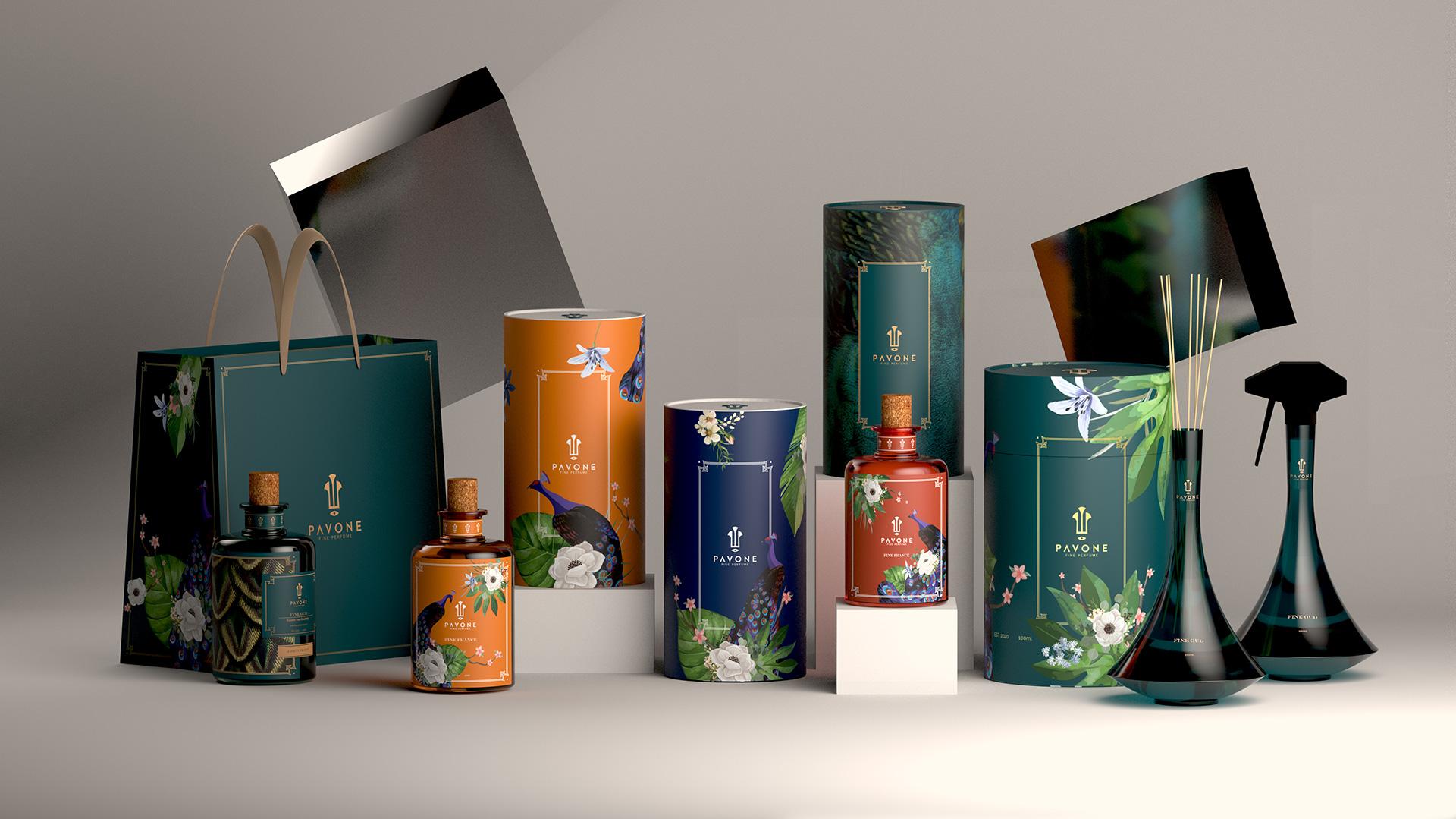 Pavone Perfumes Packaging Design by Ziad Al Halabi