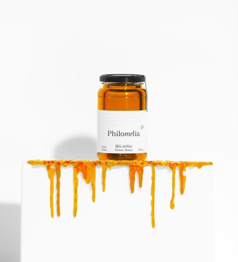 Philomelia Greek Honey Packaging Design by iframe Design Studio