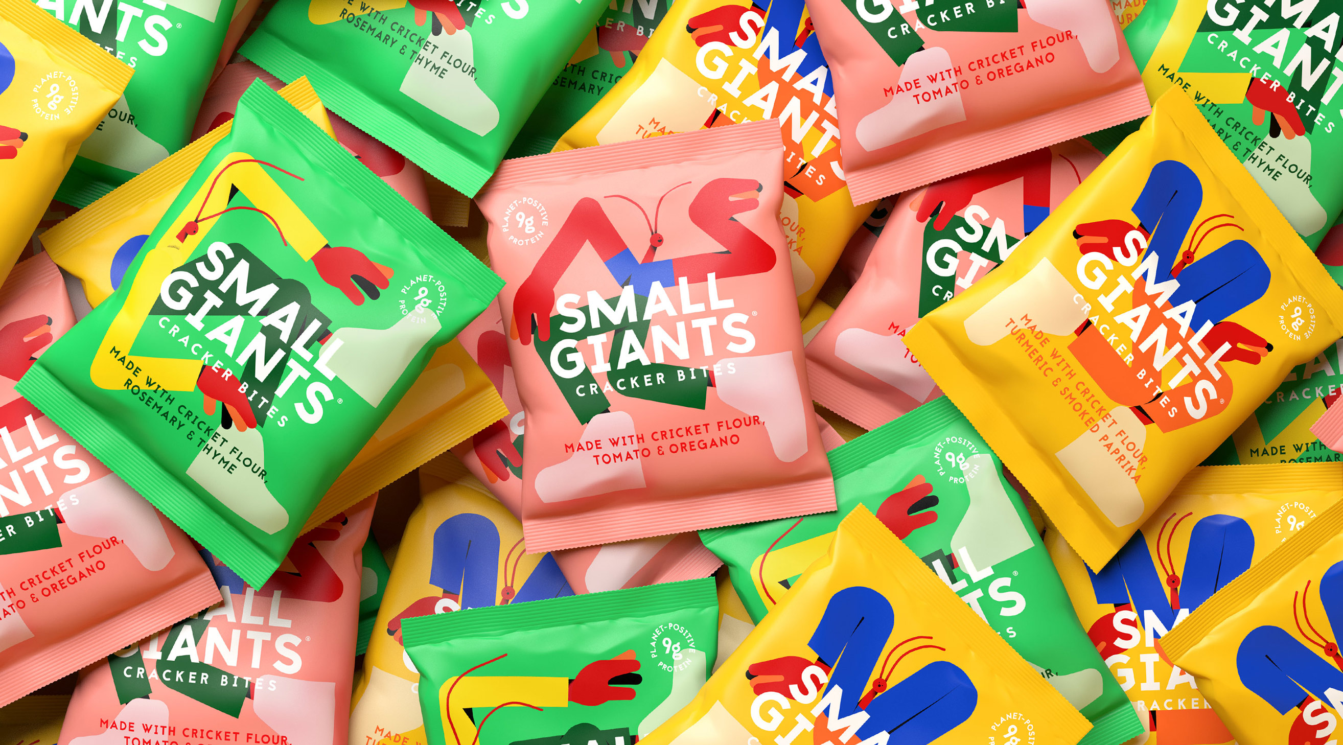 Small Giants Insect Snacks Packaging Design by Midday