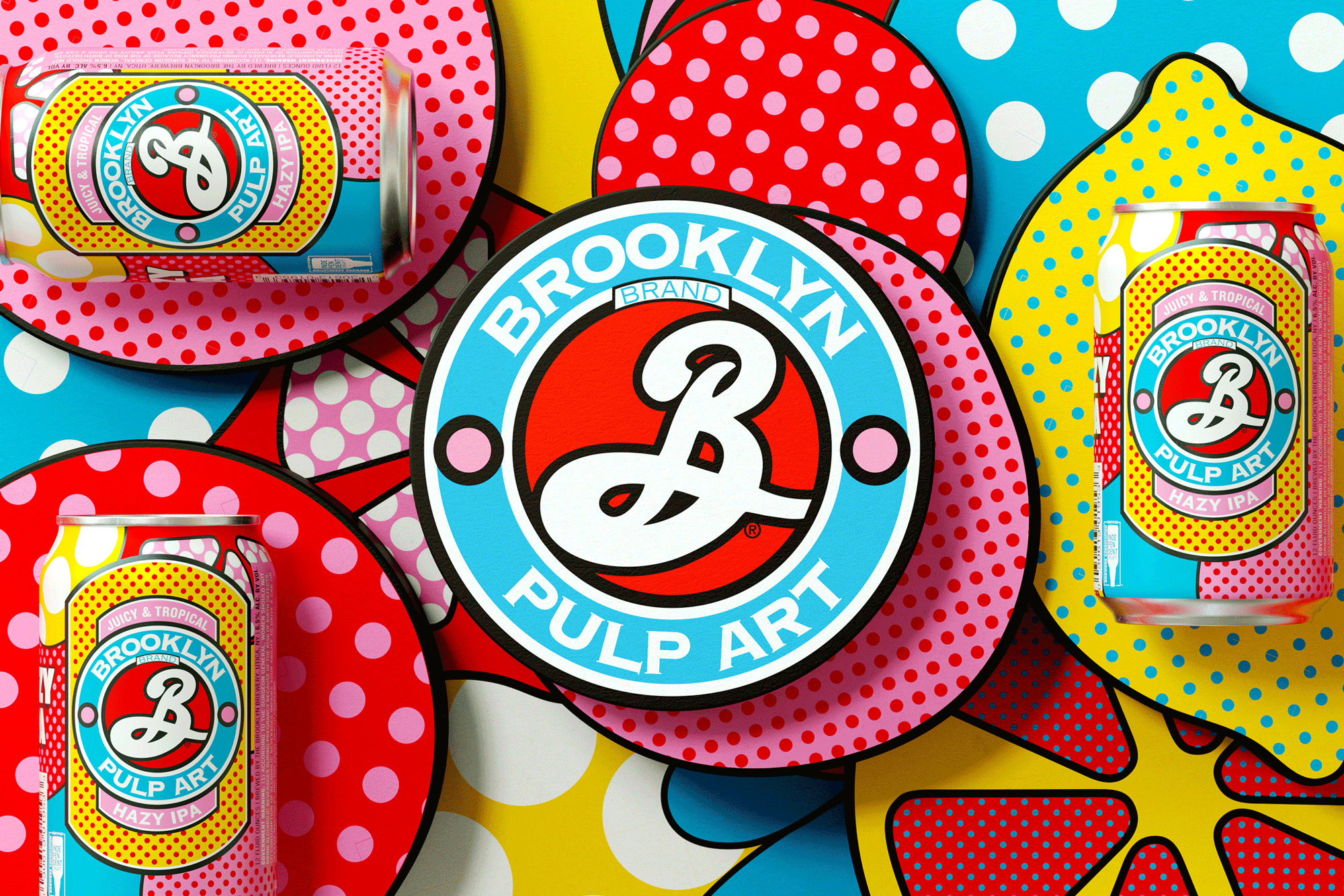 Brooklyn Brewery Pulp Art Hazy IPA Brand and Packaging Design by Thirst Craft