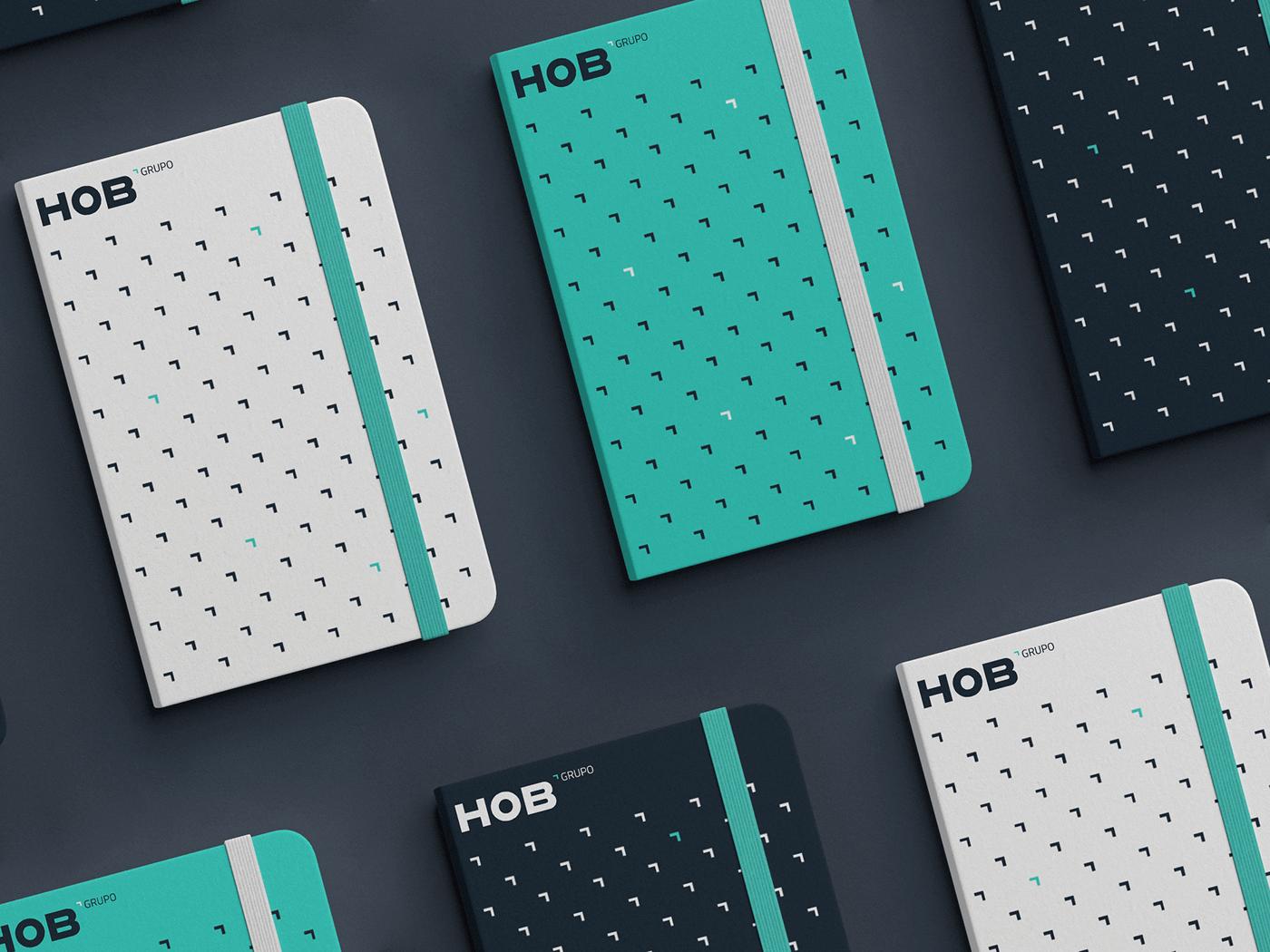 Rebranding of Grupo HOB Created by Hola. Creativos