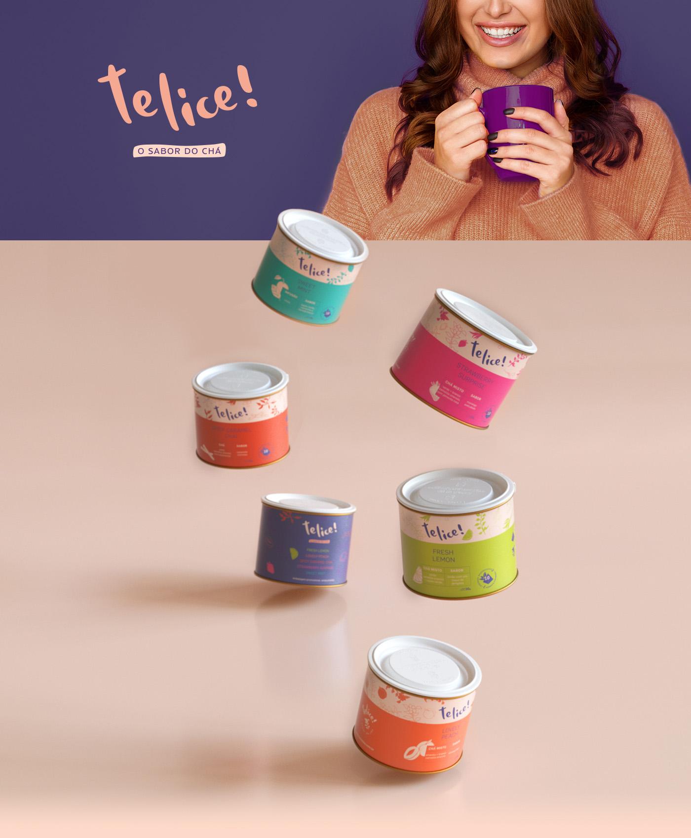 Telice Tea Visual Identity and Packaging Designed by Fernanda Galindo