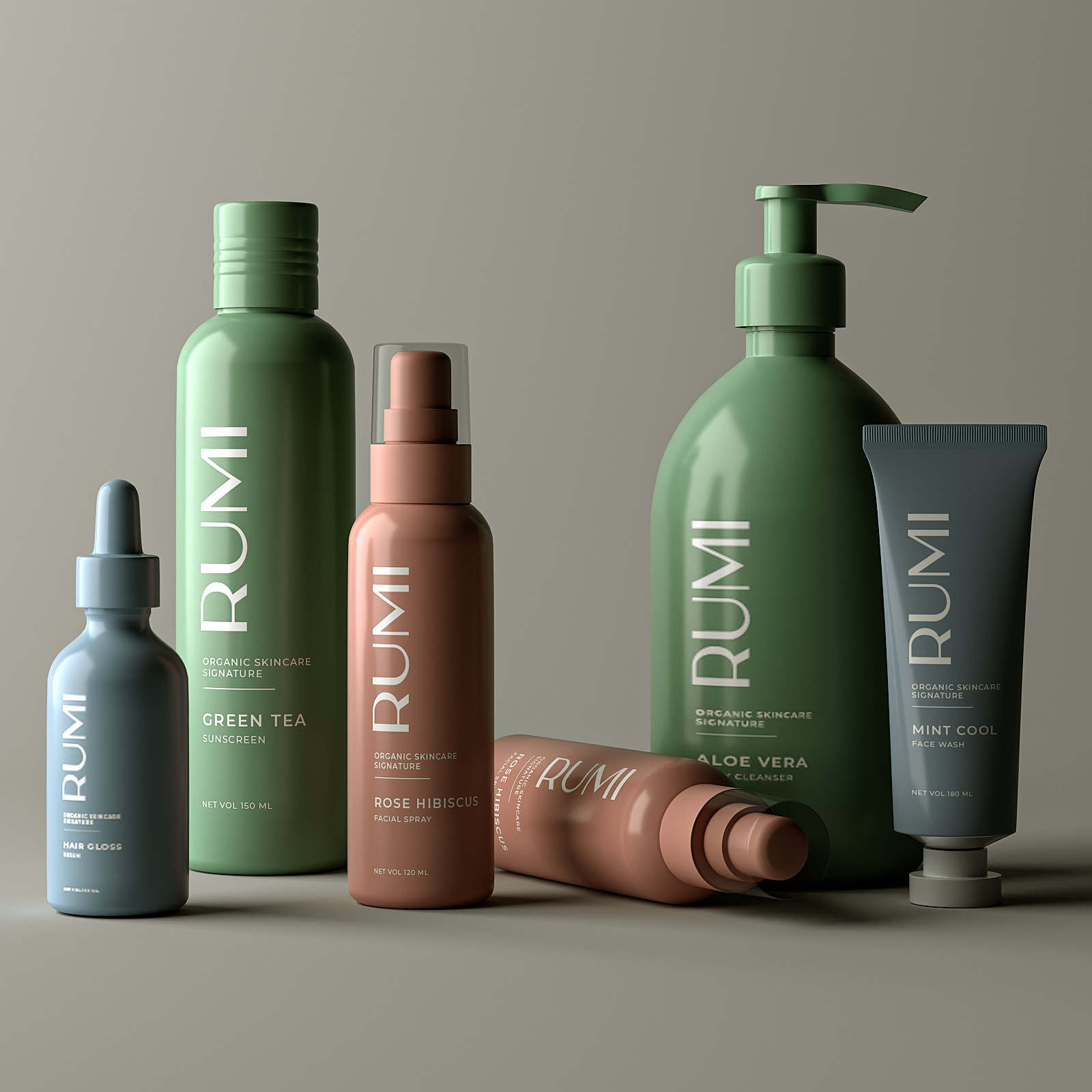 Rumi Skincare Packaging Design by The Turtle Story