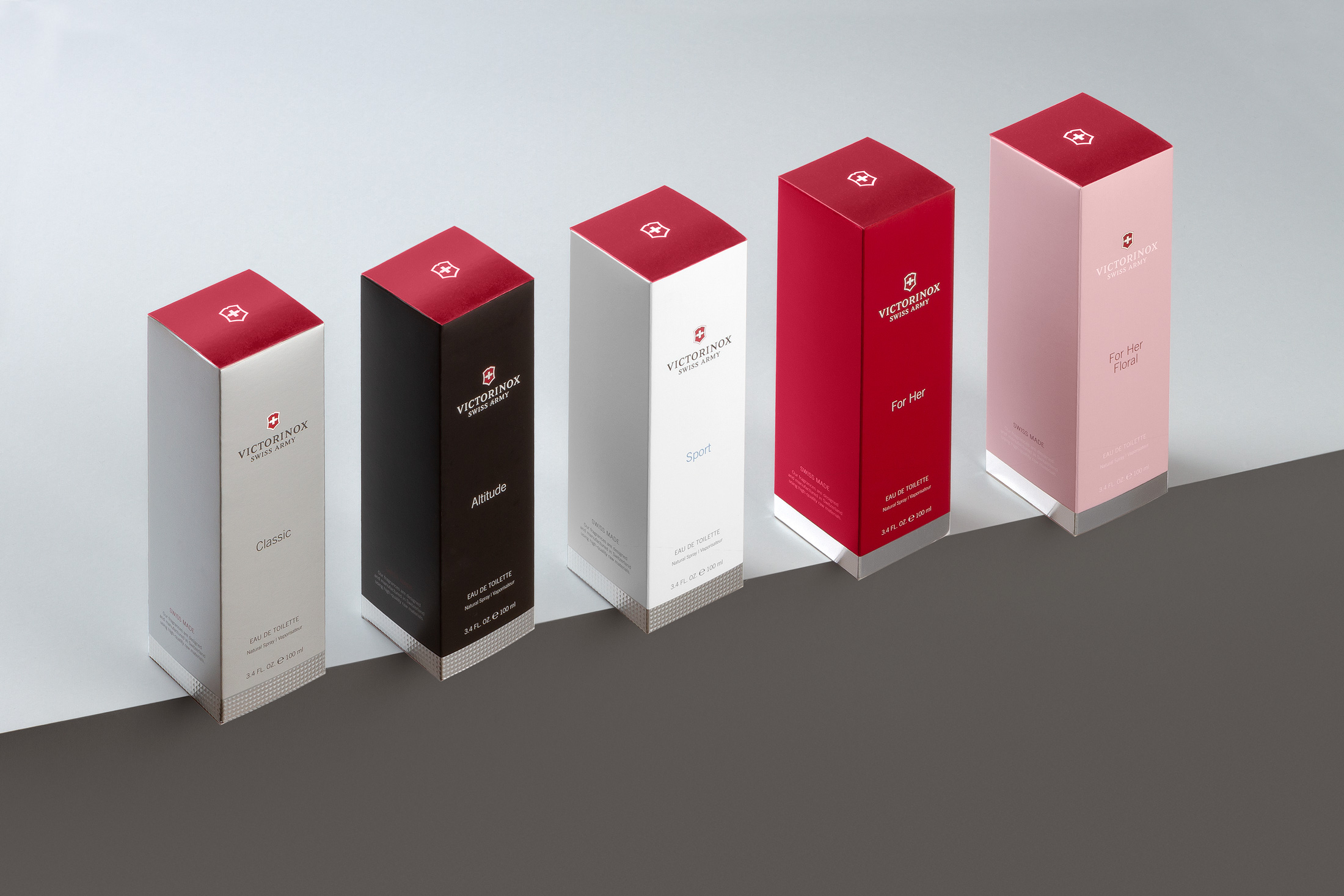 Packaging Redesign of Victorinox Fragrance Collection by Noreste
