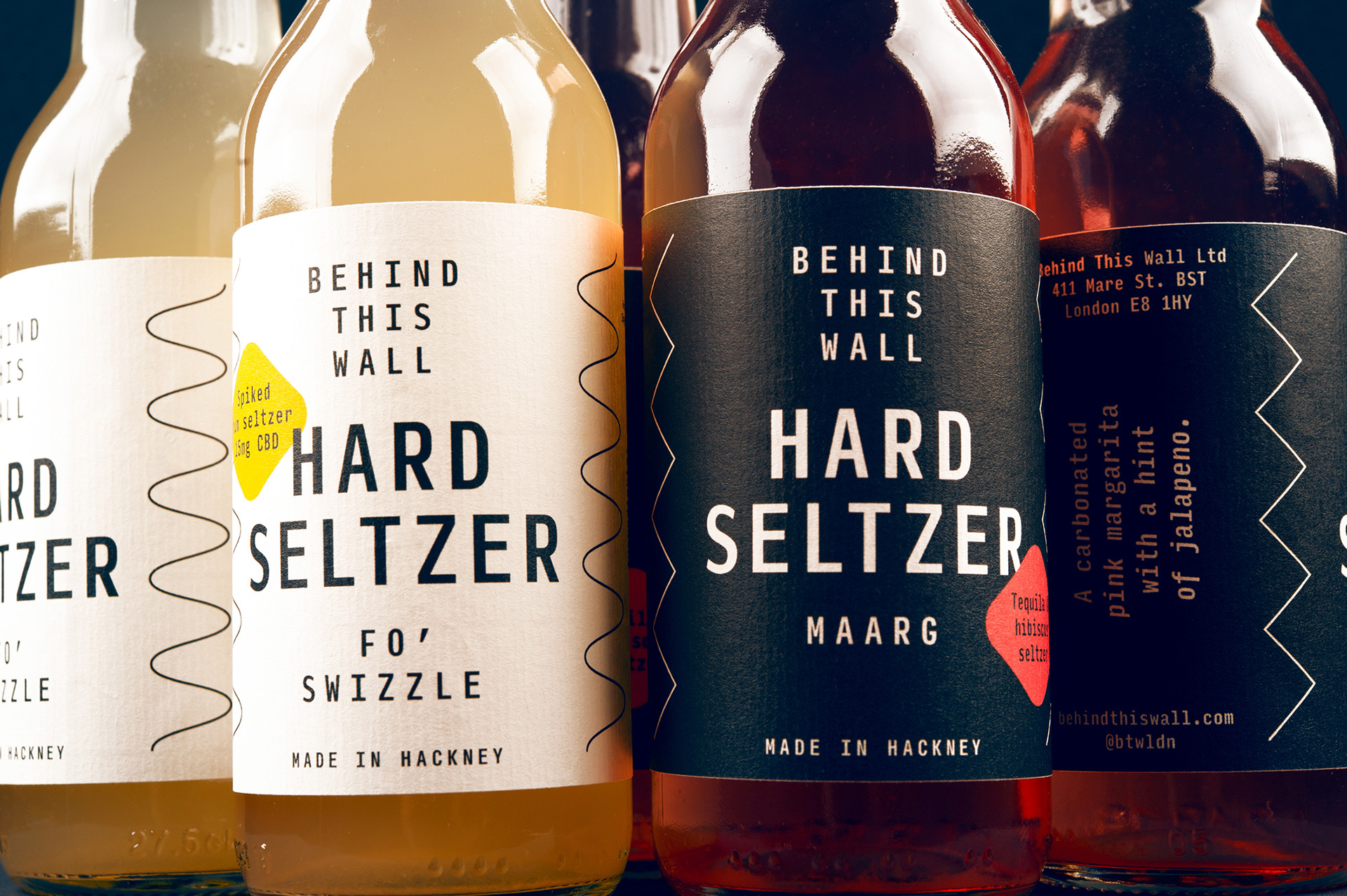 Label Design for a Range of Hard Seltzers