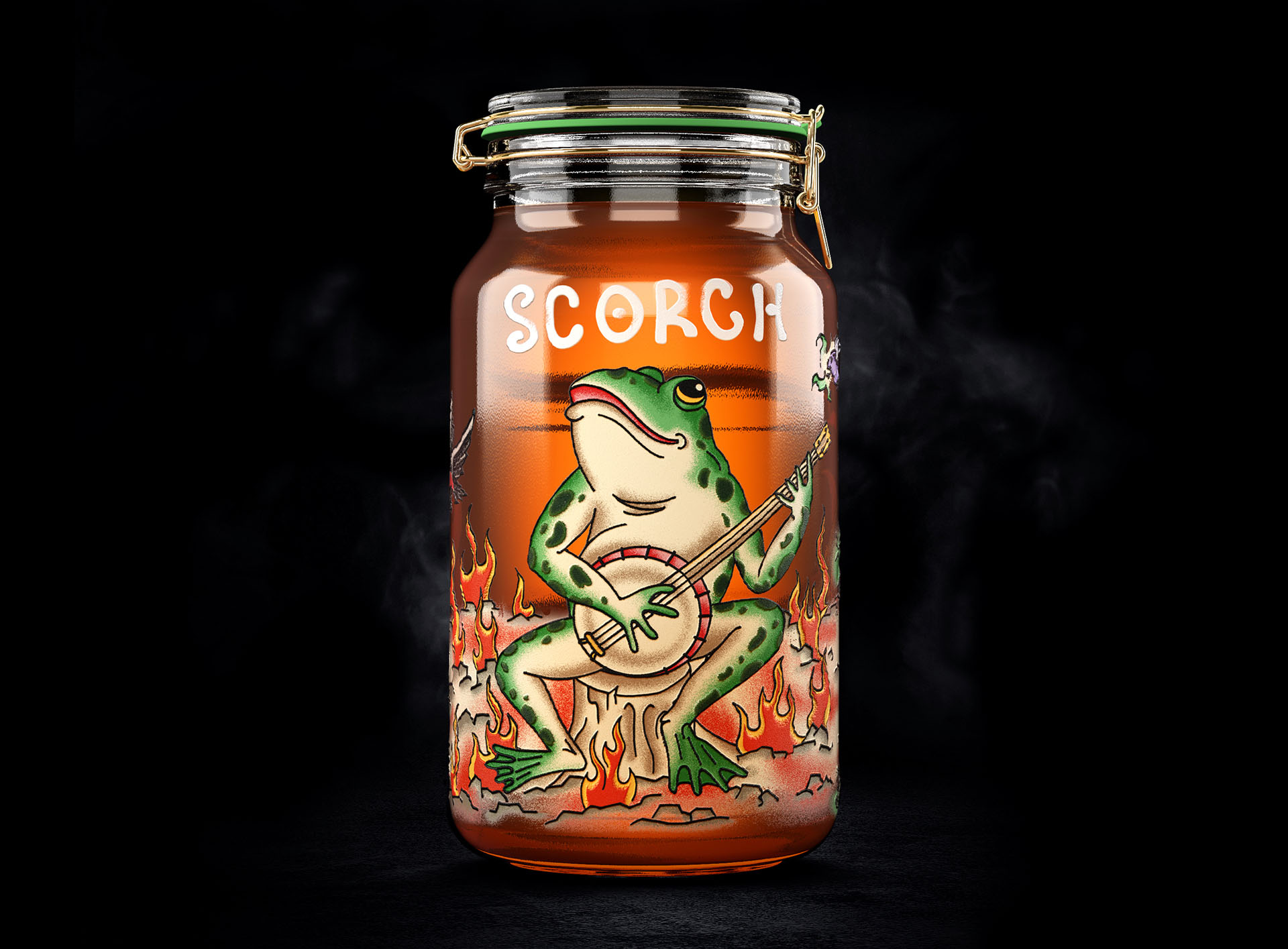 Cinnamon Craft Moonshine Packaging Design Concept by Denis Kalinin