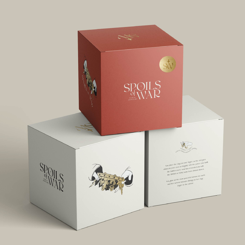 Iskelet Design's Branding and Packaging for Spoils of War Jewellery